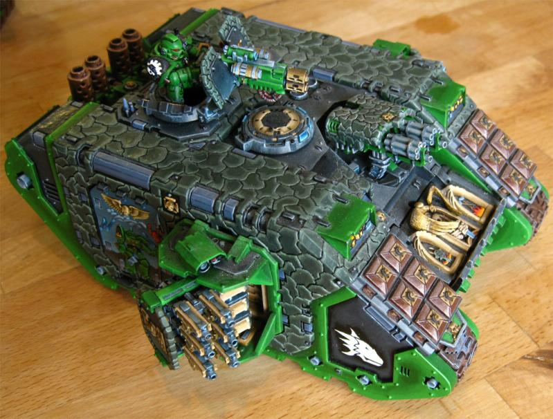 Conversion, Freehand, Heavy Support, Land Raider, Salamanders, Tank, Warhammer 40,000