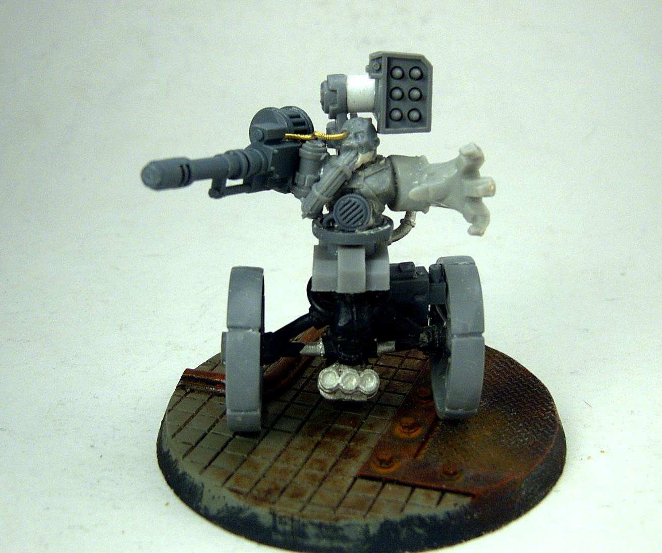 Adeptus Mechanicus, Auto-cannon, Automated, Grimdark, Rockets, Sentinel, Servitors