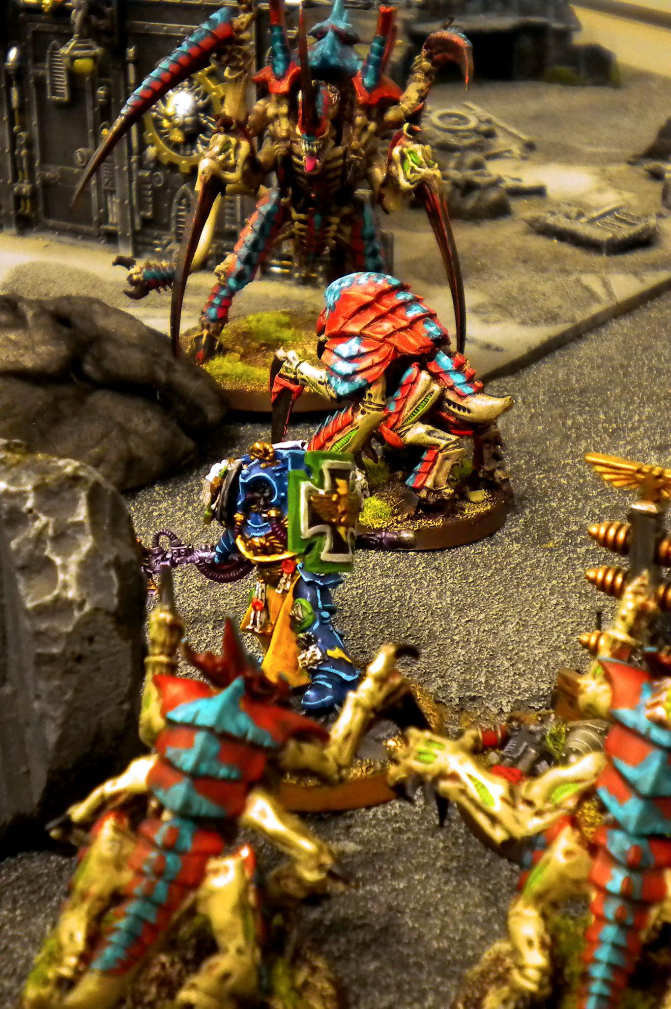 Space Marines, Swarm Lord, Tyranids, Warhammer 40,000