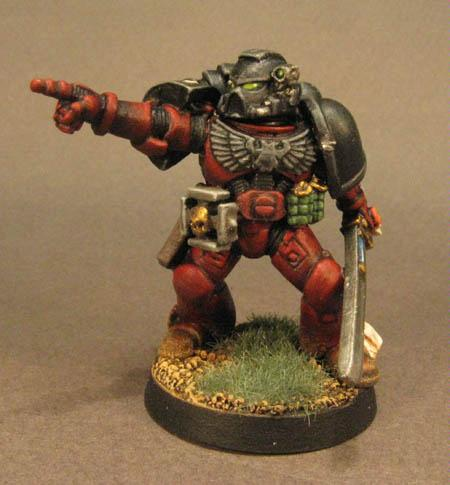 Flesh Tearer, Pointing, Space Marines, Tactical Squad, Warhammer 40,000