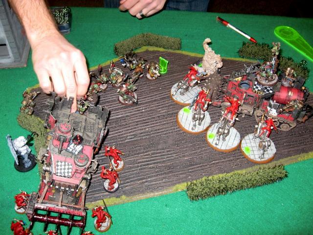Battle Report, Battlewagon, Bloodcrushers, Bloodletters, Daemons, Orks