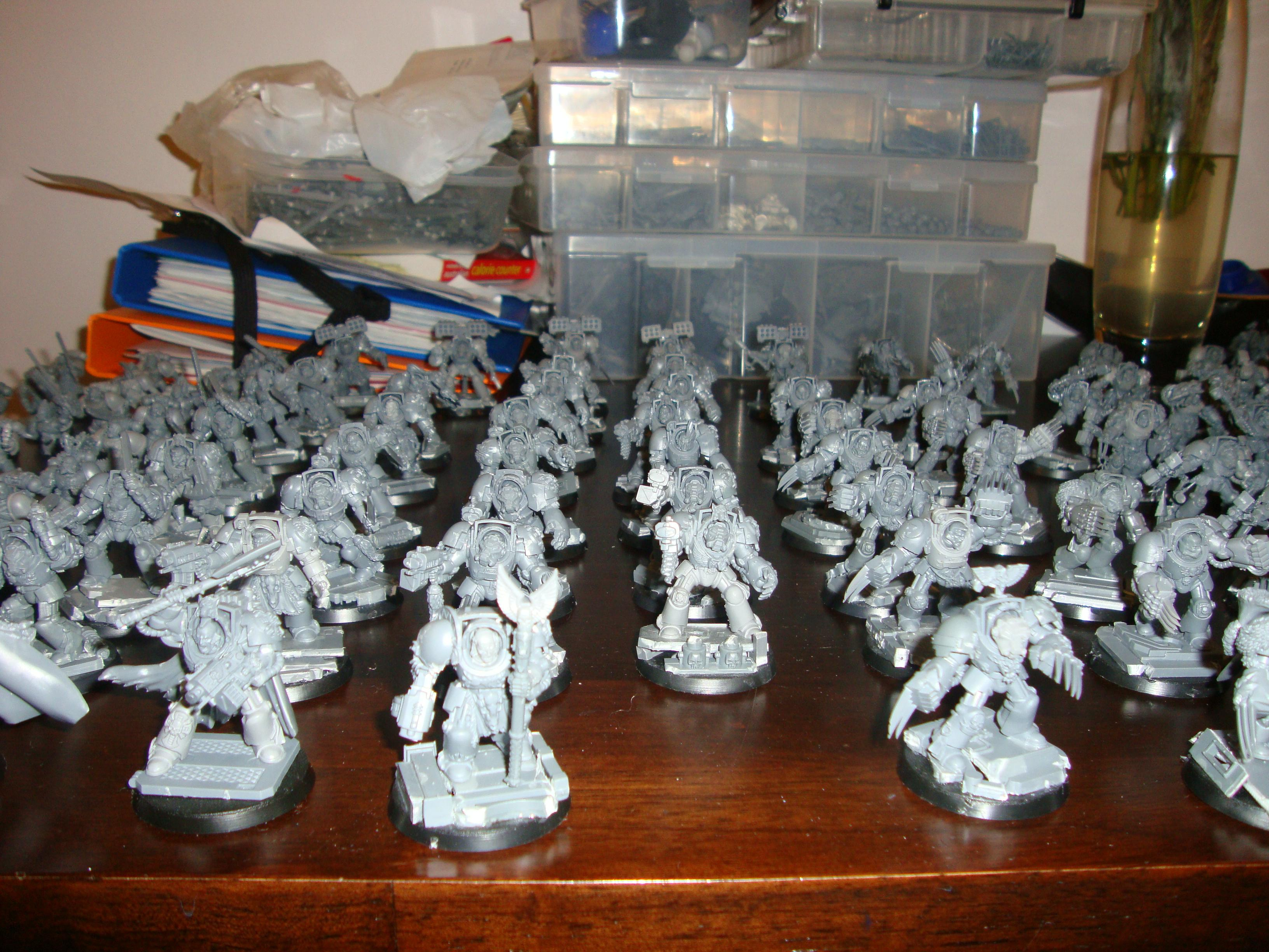 Space Marines, Space Wolves, Terminator Armor, Wolf Guard