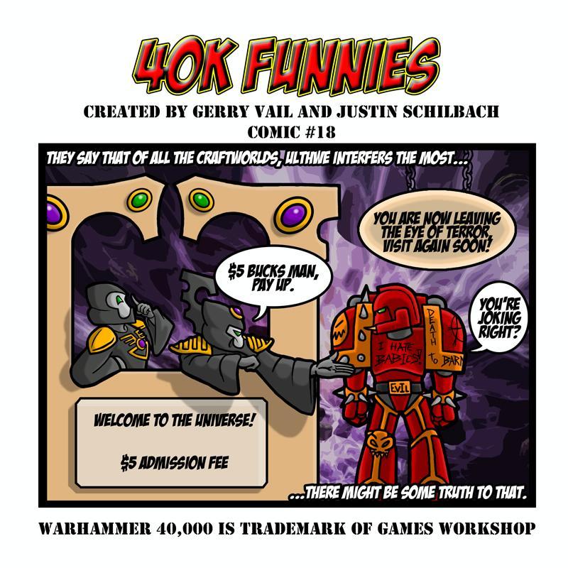 40k Funnies, Cartoon, Eldar, Humor