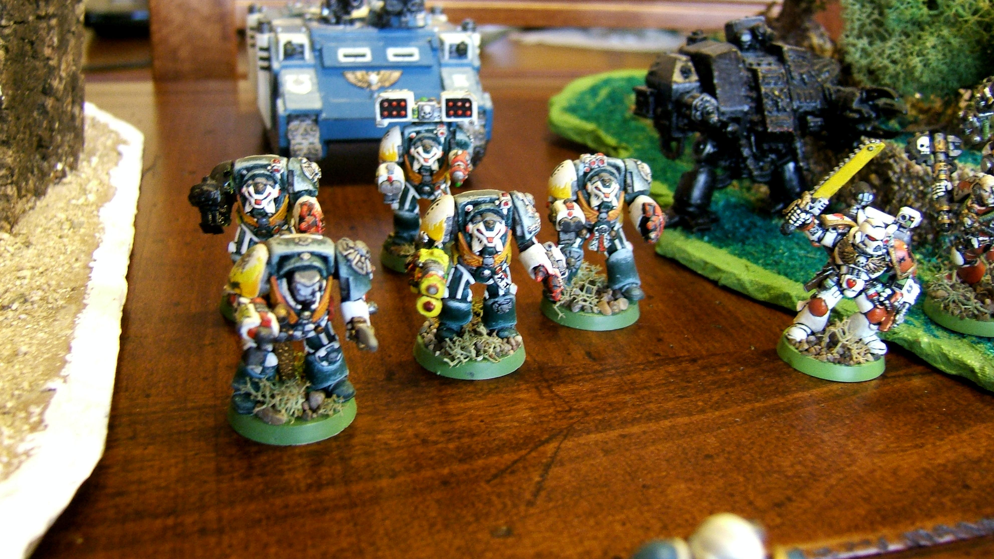 Army, Command Squad, Dark Angels, Elite, Headquarters, Space Marines, Terminator Squad