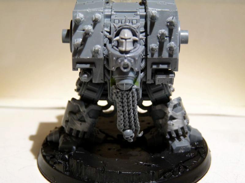 Chaos Space Marines, Conversion, Dreadnought, Khorne, Warhammer 40,000, Work In Progress