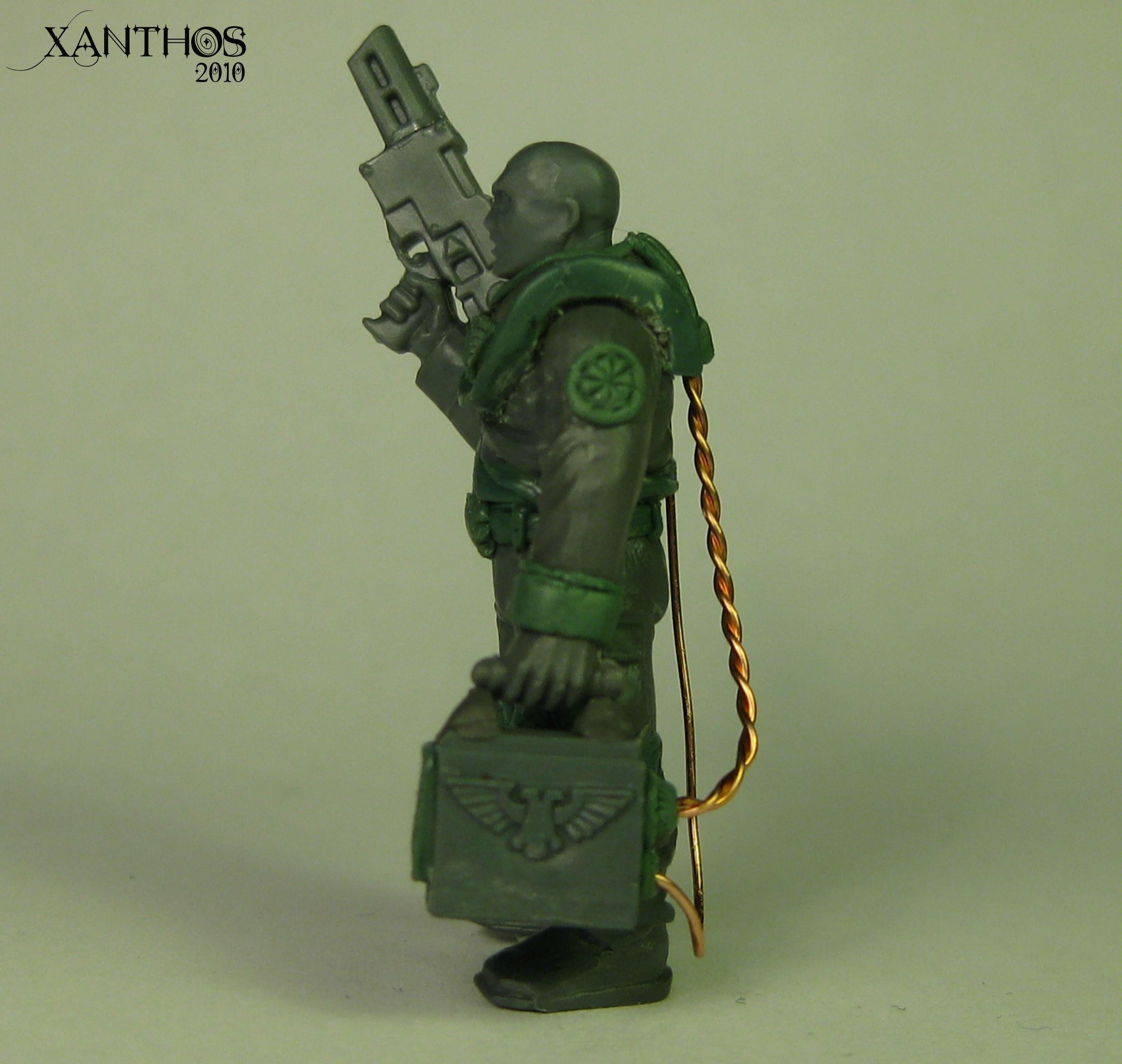Adeptus Mechanicus, Greenstuff, Sculpting, Warhammer 40,000, Work In Progress
