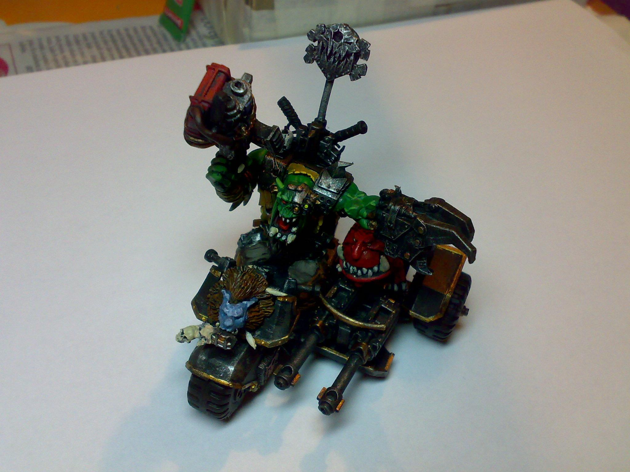 Attack Squig, Orks, Warbike, Warboss