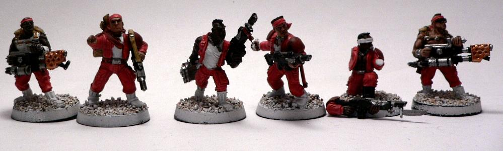 Catachan, Guardsmen, Imperial Guard, Scar, Warhammer 40,000, Wounded