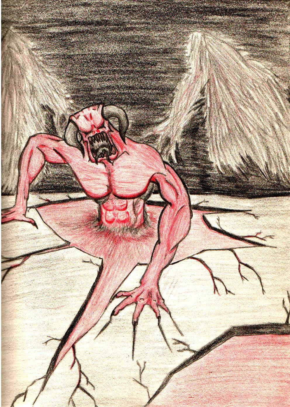 Black, Chaos, Colour, Daemons, Drawing, Khorne, Red
