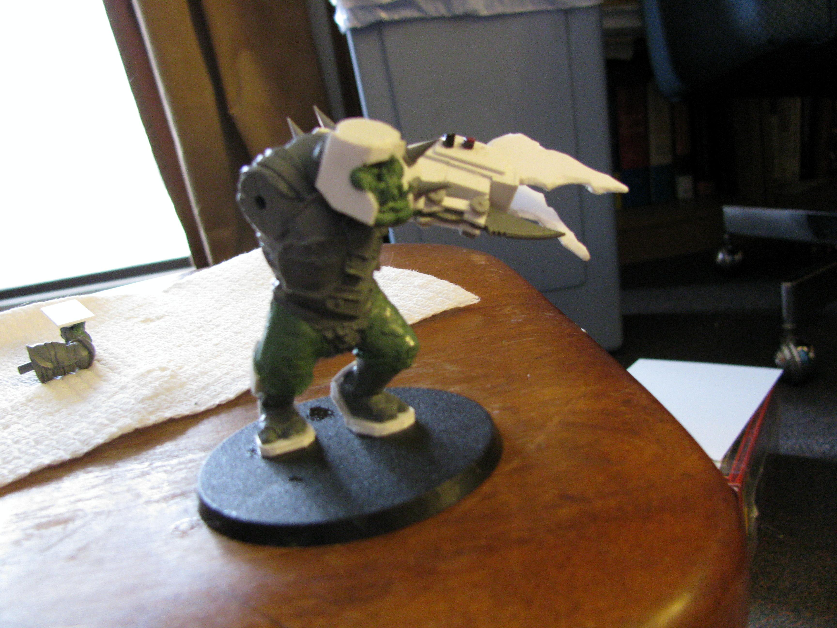 54mm, Conversion, Inquisitor, Orks, Warboss
