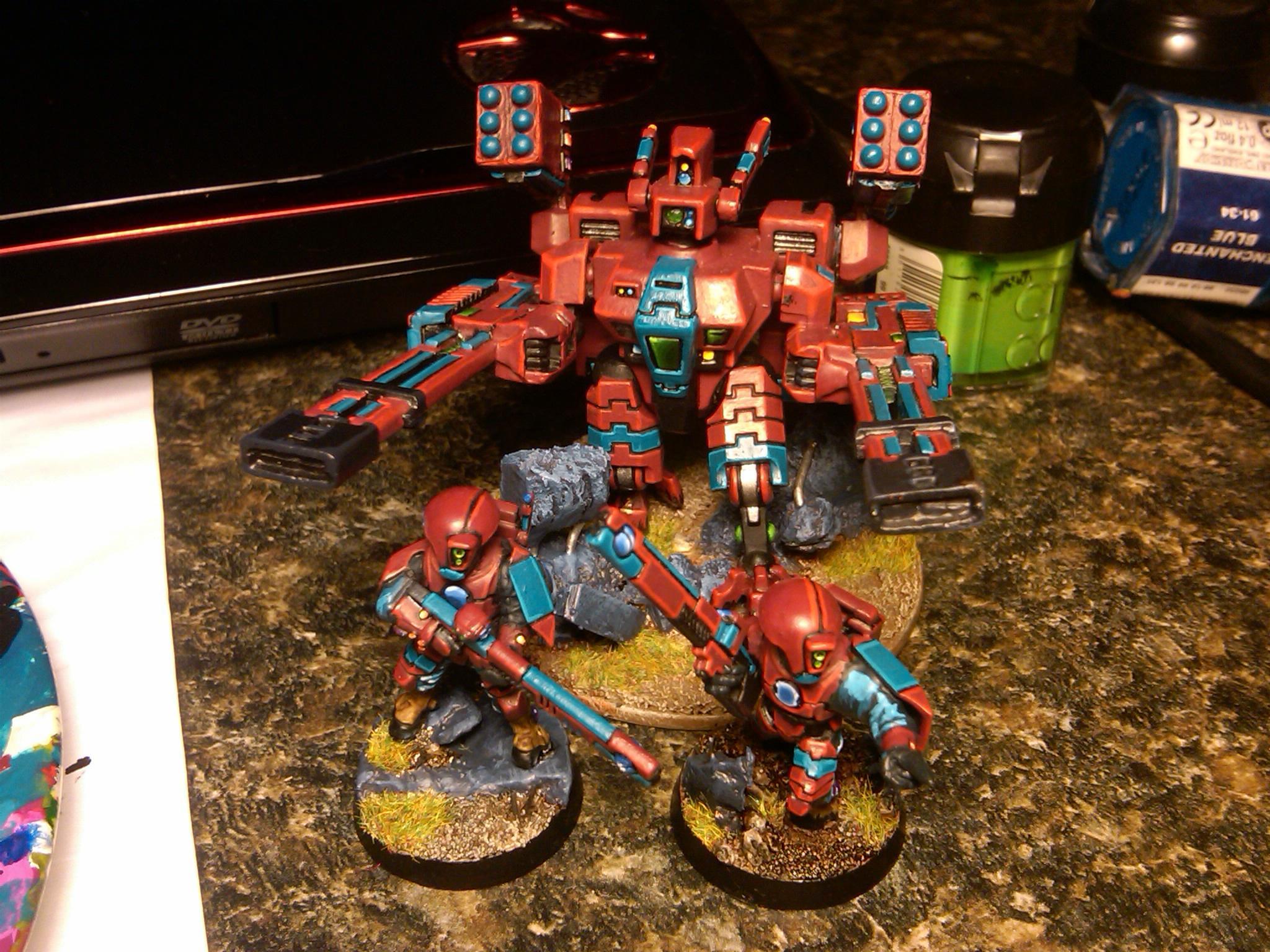 Battlesuit, Broadsides, Fire Warriors, Tau, Xv88