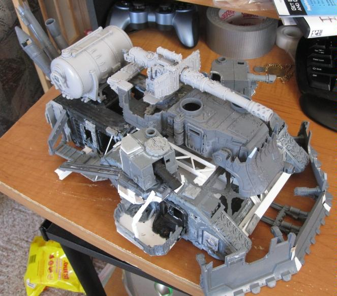 Apocalypse, Battle, Battlewagon, Conversion, Massive, Orks, Wagon, Work In Progress