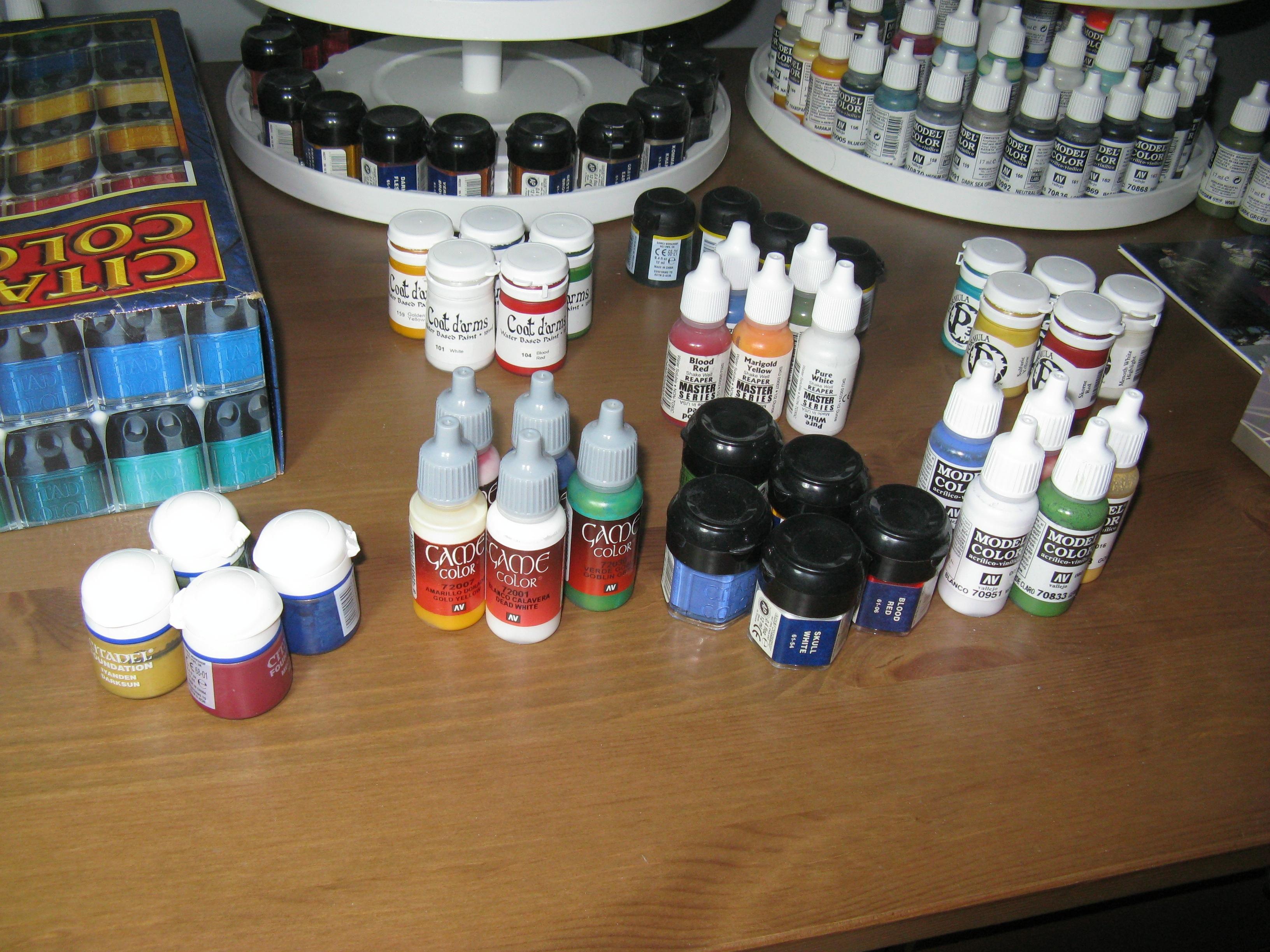 Citadel, P3, Paint Ranges, Reaper, Vallejo Game Color, Vallejo Model Color