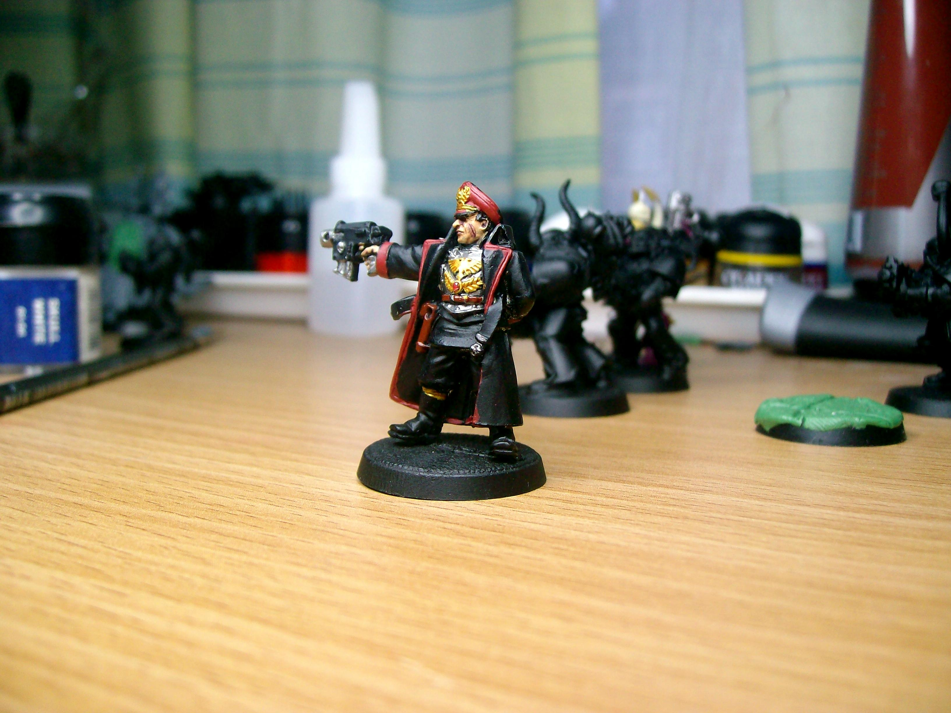 Bolt Pistol, Commissar, Imperial Guard, Imperial Officer, Work In Progress
