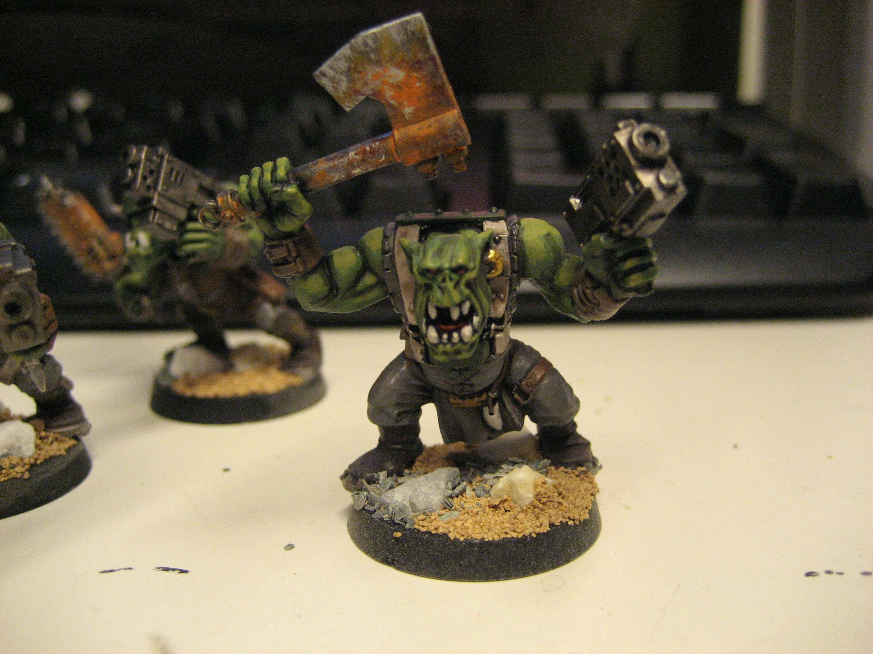 Blood Axe Orks, Great Paintjob, Rust