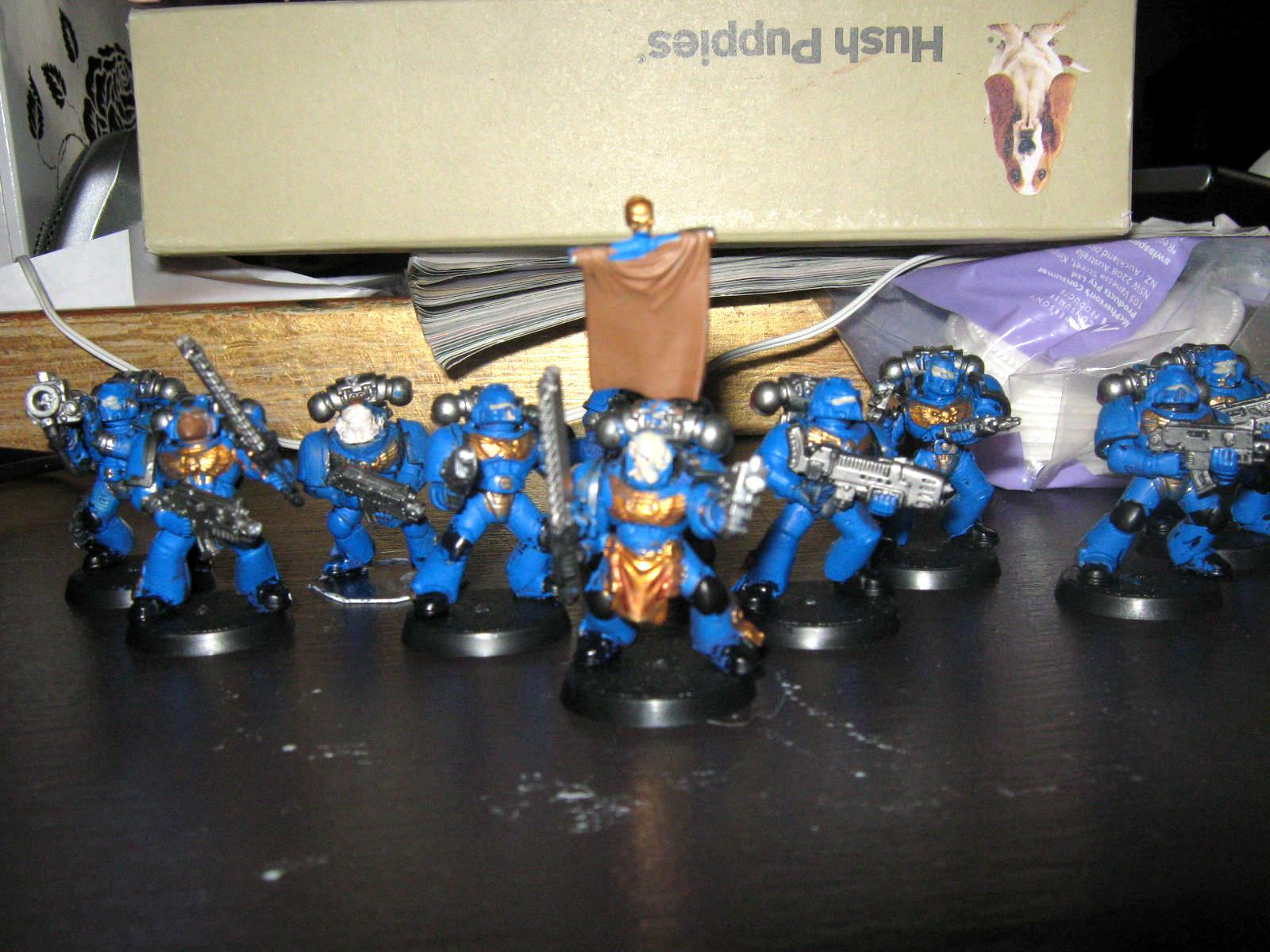 Badly Painted, Space Marines, Tactial Squad