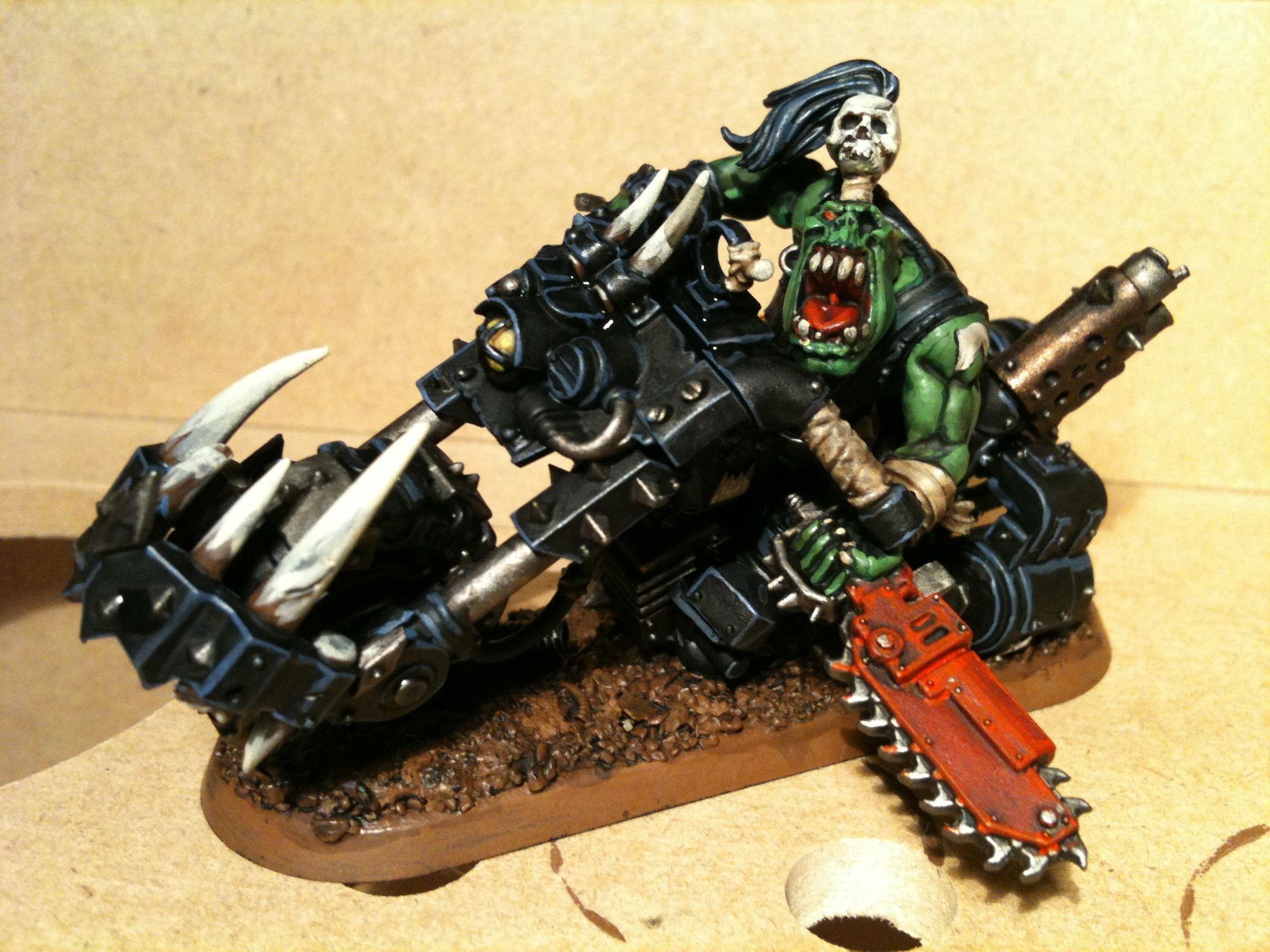 Orks, Warbike, Work In Progress