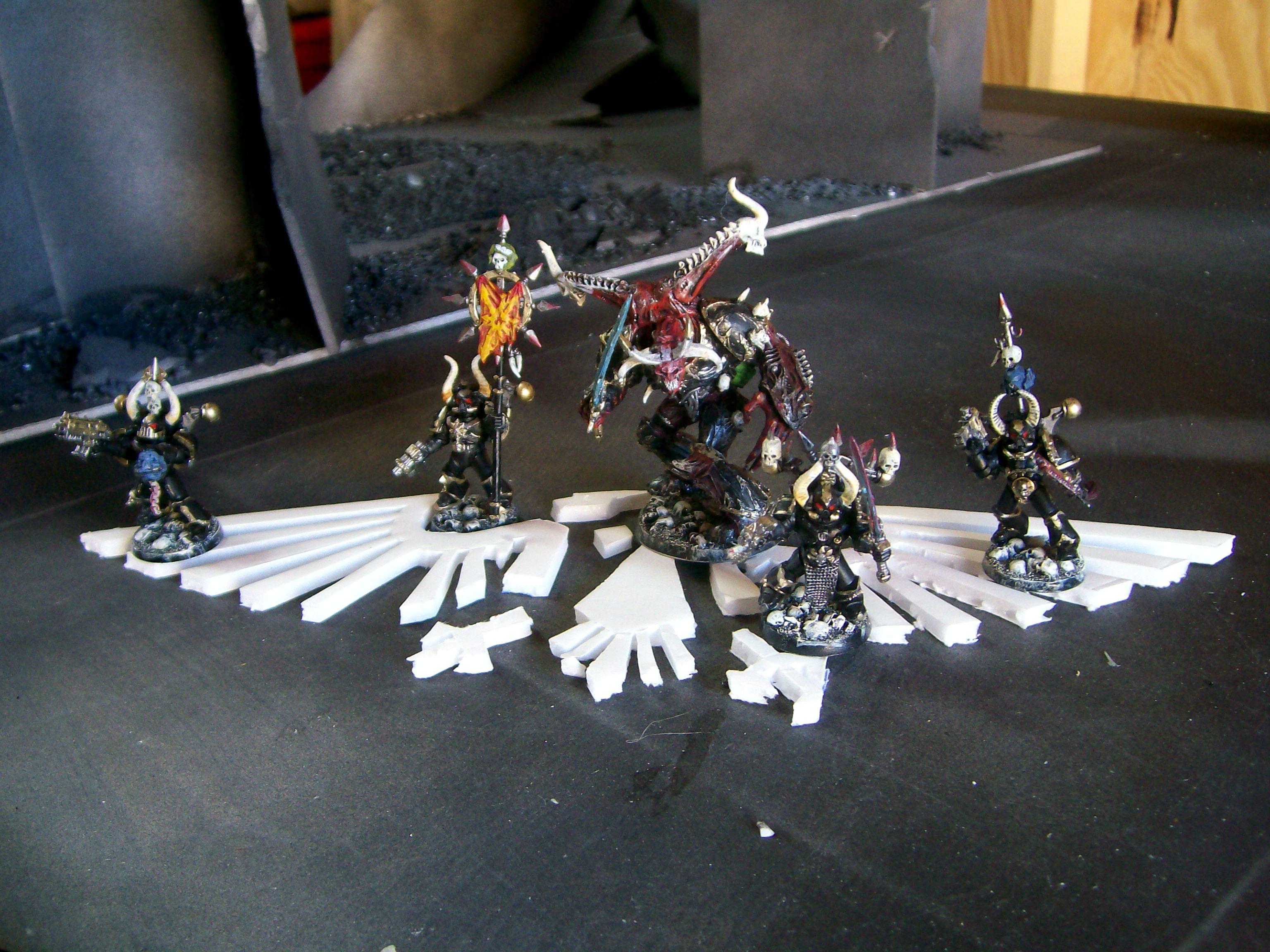 Chaos Space Marines, Daemon Prince, Games Workshop, Painted, Warhammer 40,000, Work In Progress