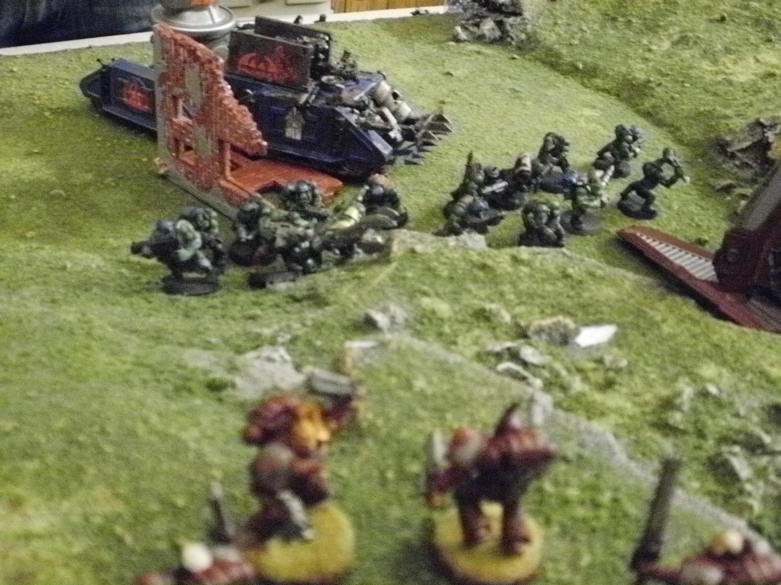 Battle, Dynamic, Orks, Space Marines