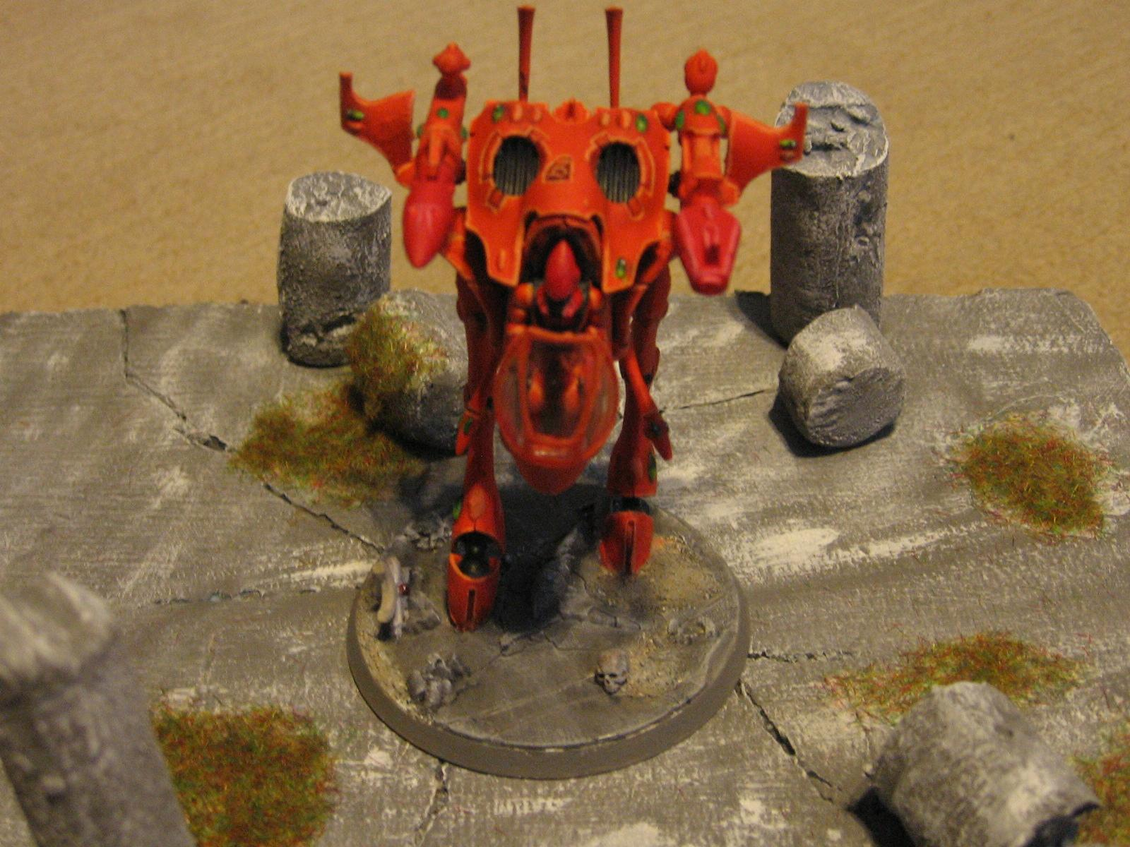 Eldar, Orange, War Walker, Warhammer 40,000, Warhammer Fantasy