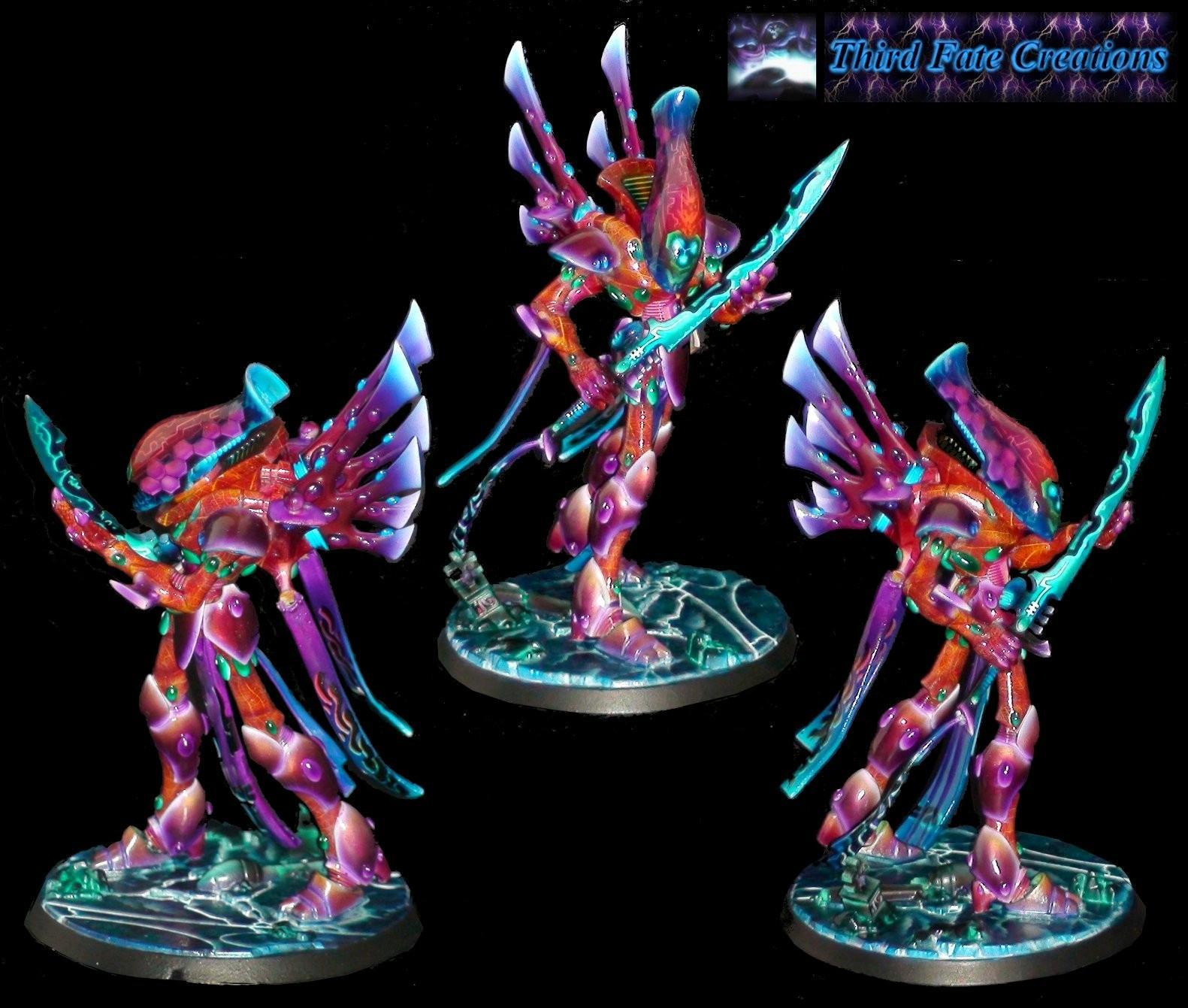 Cool Paint Job, Eldar, Original Colour Scheme, Warhammer 40,000, Wraithlord