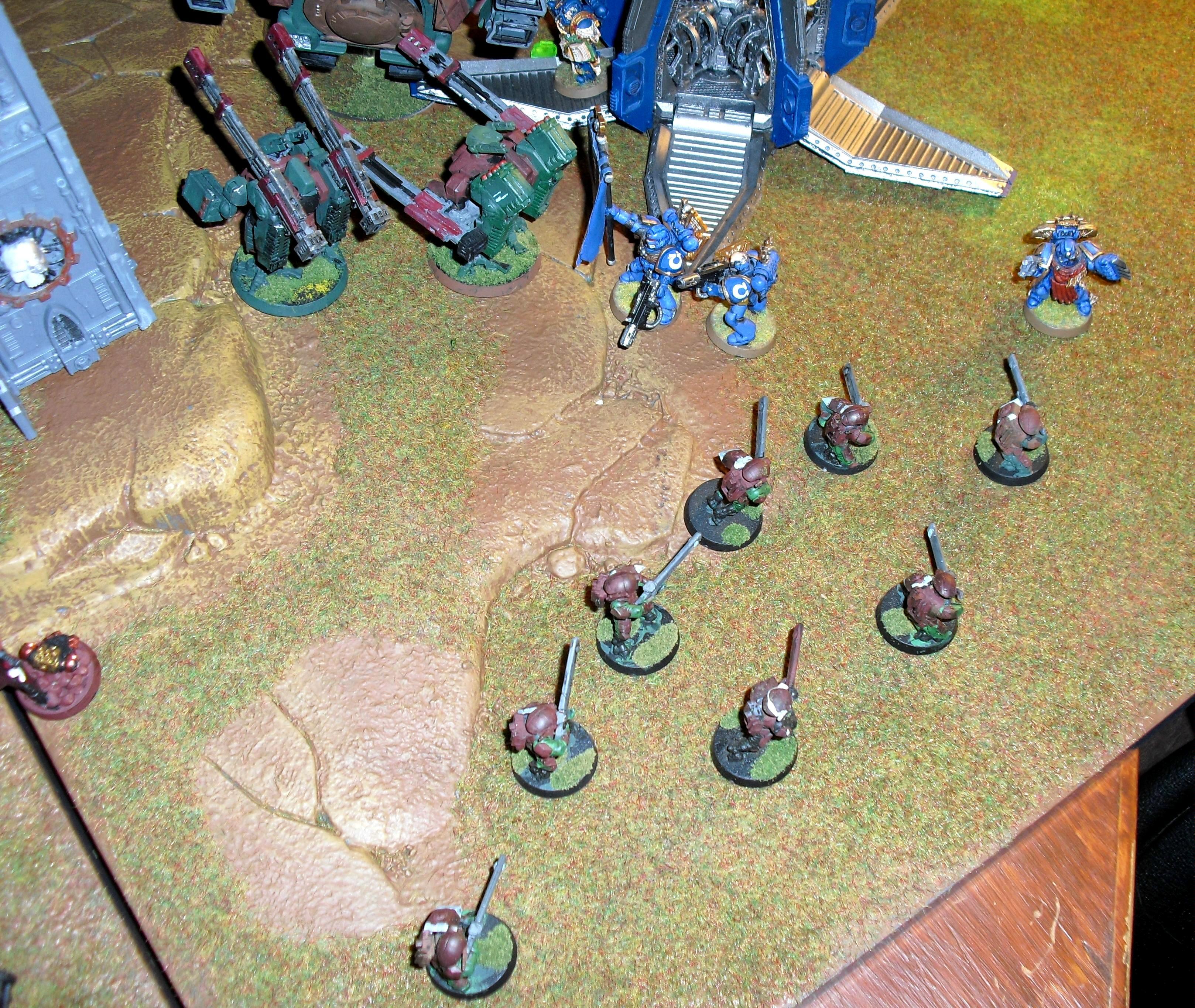Broadsides, Drop Pod, Fire Warriors, Tau, Ultramarines