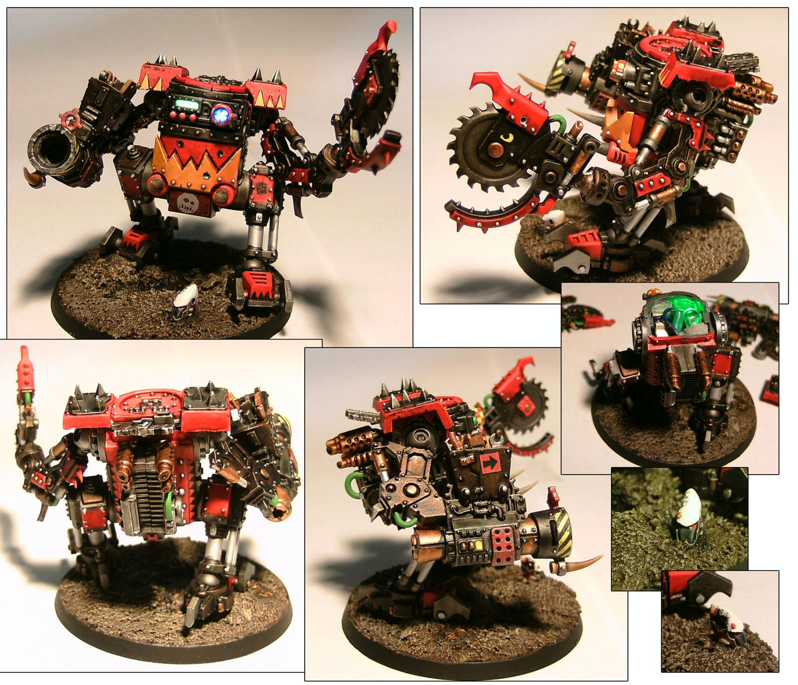 Dreadnought, Killa Kan, LED, Orks, Warhammer 40,000
