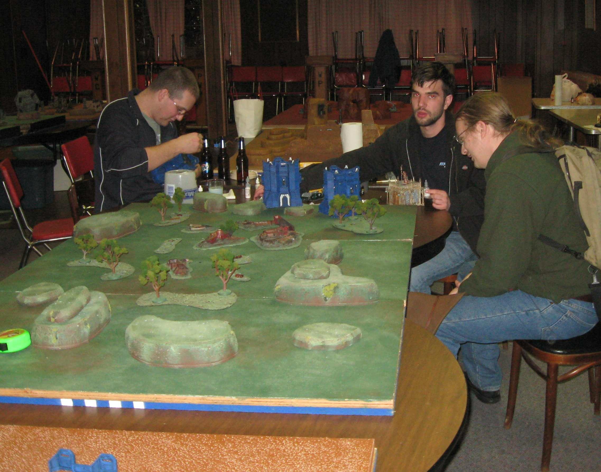 Tournament, Dorkas, painting terrain