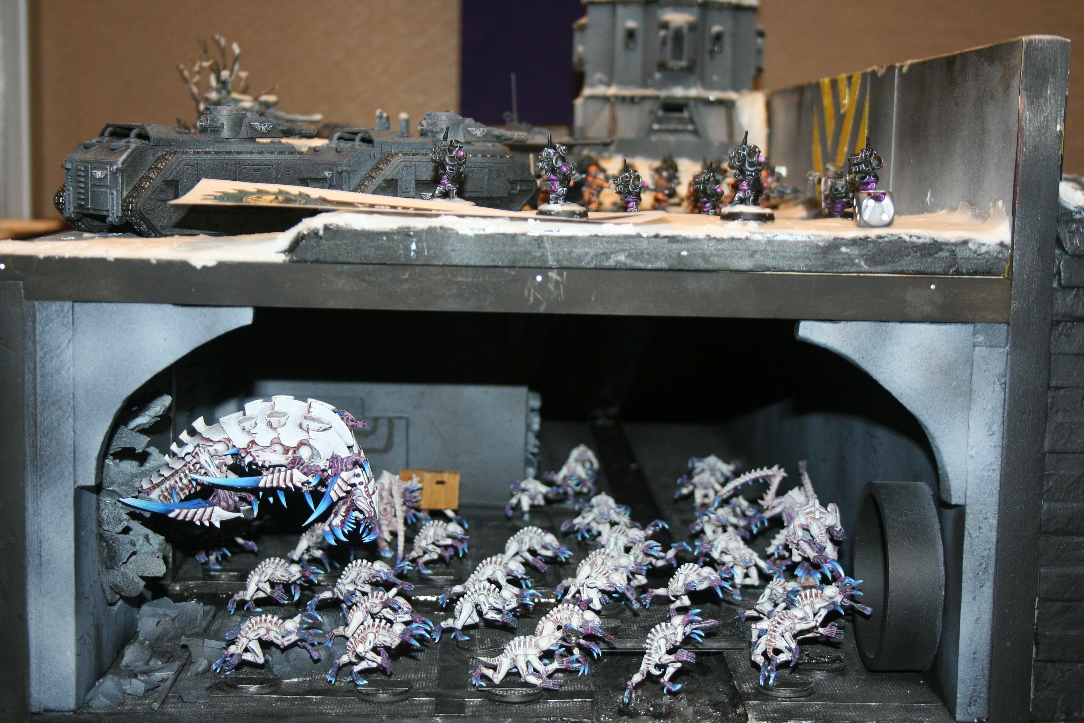 Diorama, Genestealer, Hellhound, Imperial Guard, Storm Troopers, Tyranids, Warhammer 40,000