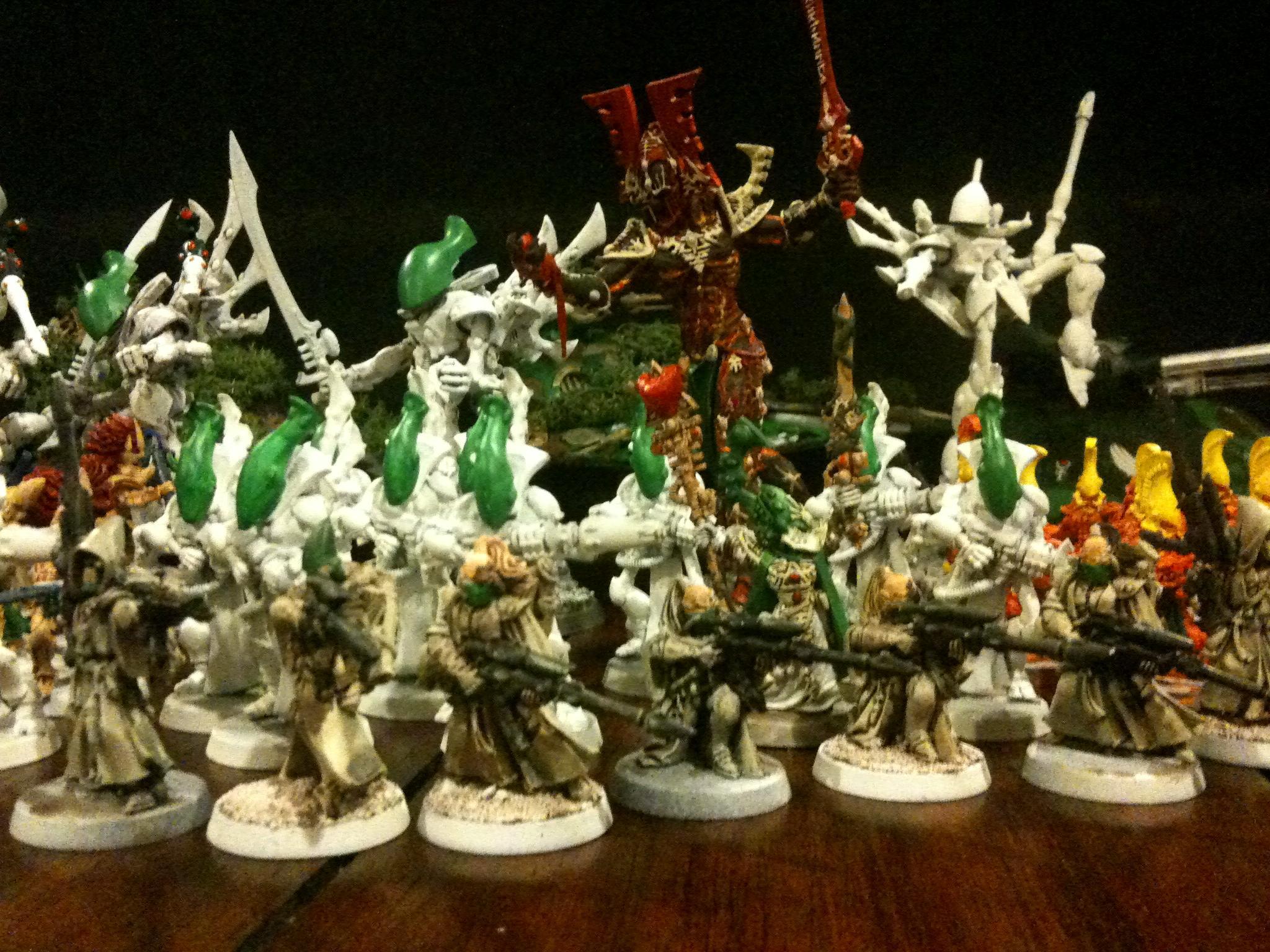 Avatar, Eldar, Farseer, Fire Dragon, Pathfinders, Rangers, Wraithguard, Wraithlord