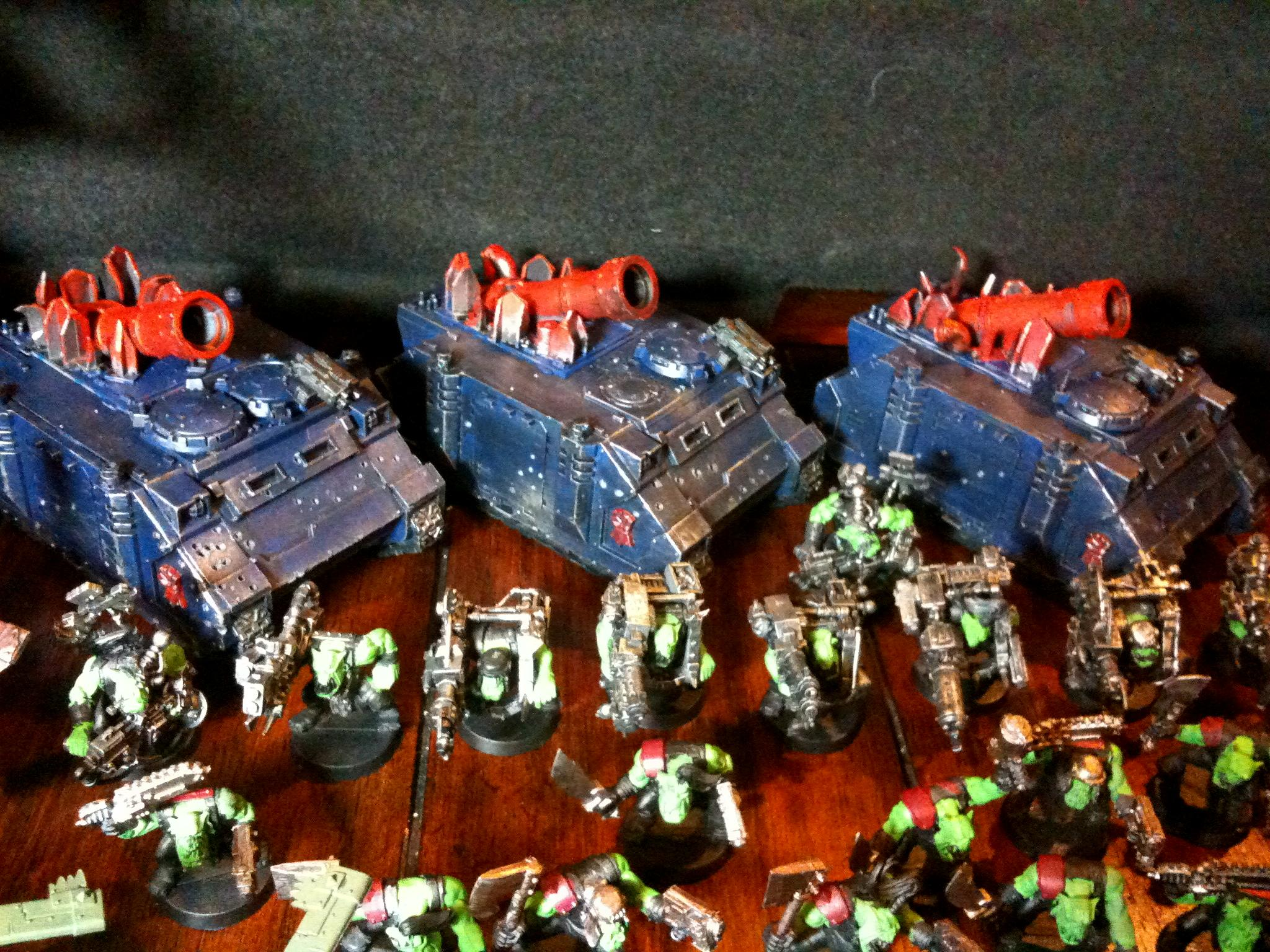 Looted Rhinos, Orks, Looted Wagons