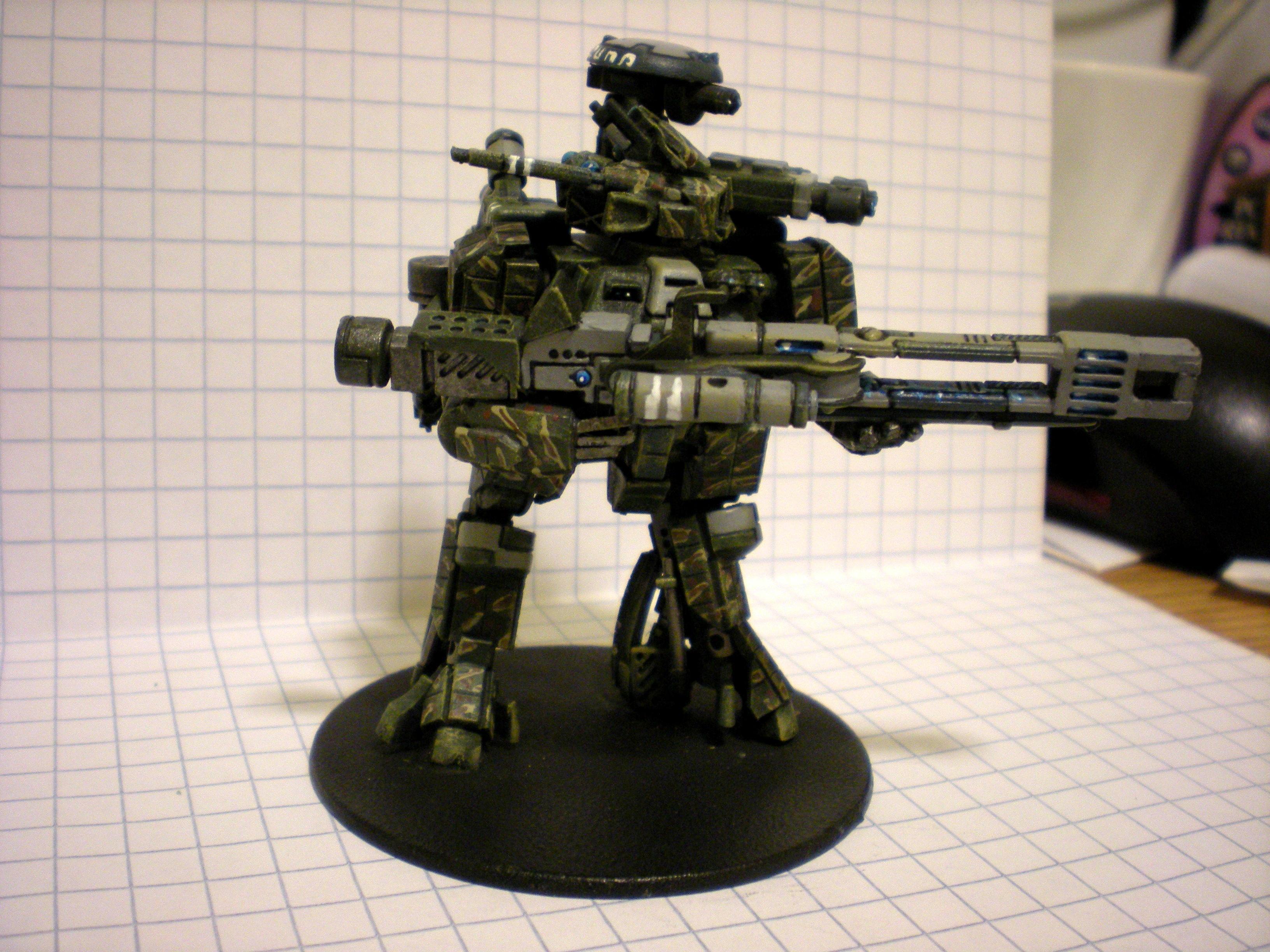 Battlesuit, Broadsides, Camouflage, Conversion, Crisis Battlesuit, Pure Awesome, Rail, Suit, Tau, Tau Conversions