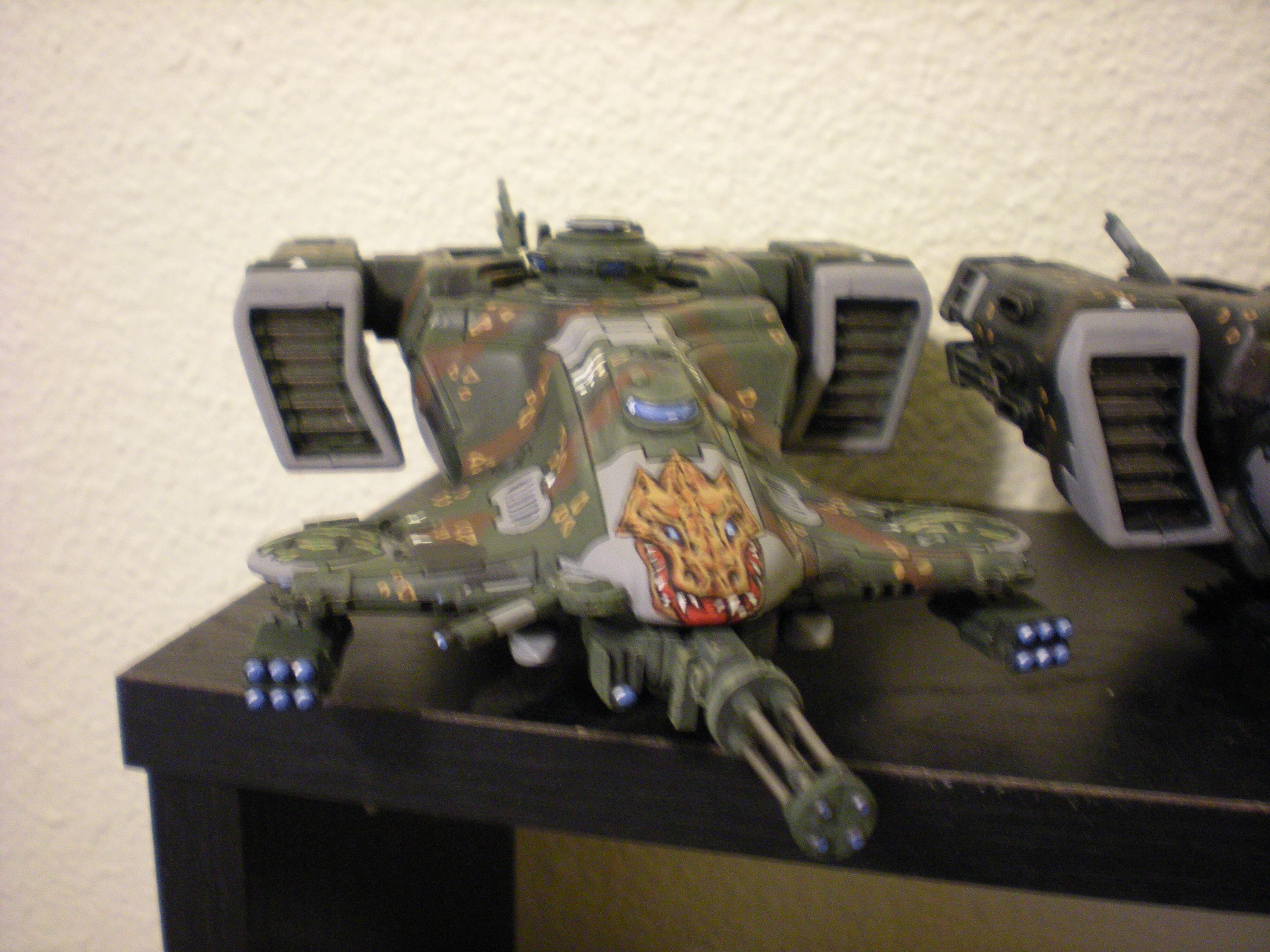 Battlesuit, Camouflage, Conversion, Devilfish, Freehand, Jungle, Tau, Tau Conversions, Warhammer 40,000