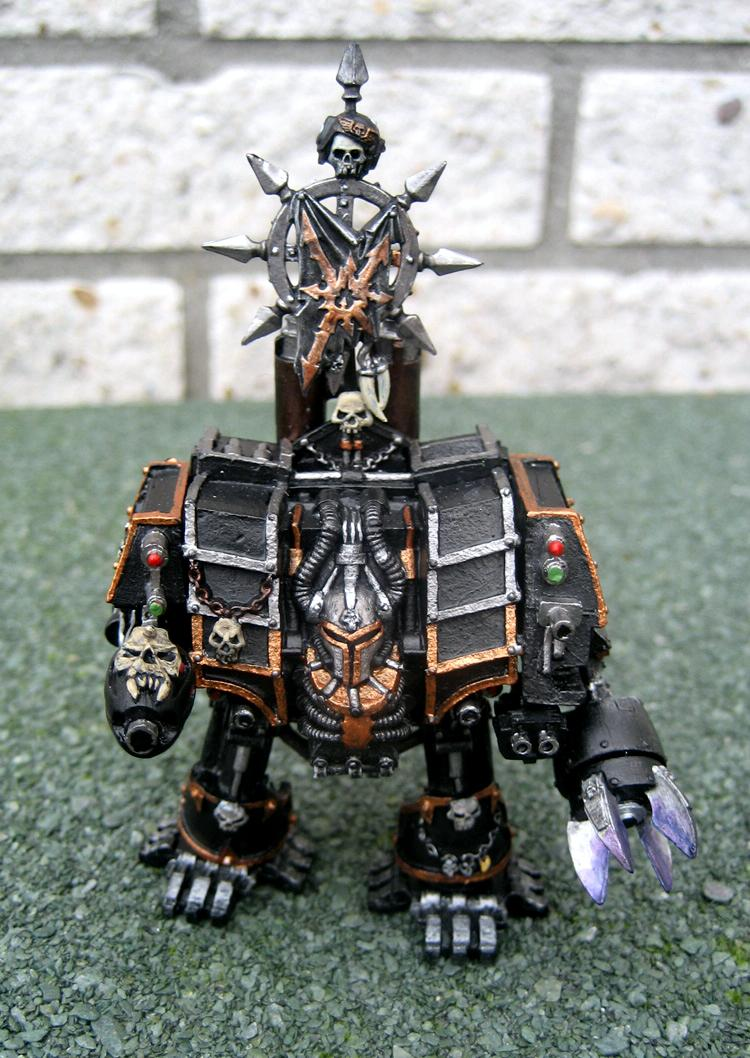Black Legion, Chaos Banner, Chaos Dreadnought, Chaos Space Marines, Chaos Vehicles, Dreadnought, Plasma Cannon