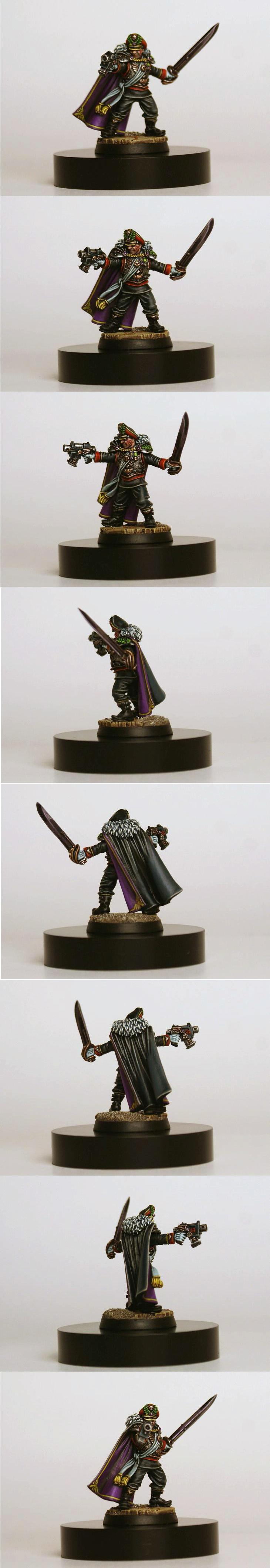 Bolt Pistol, Commissar, Detail, Freehand, Imperial Guard, Layering, Lord Commissar, Power Sword, Warhammer 40,000