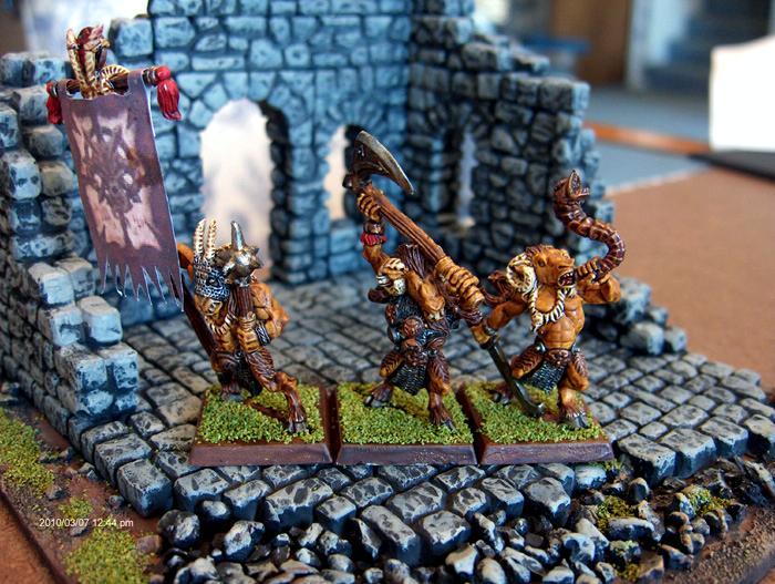Beasts Of Chaos, Dipped, Games Workshop, Gors, Warhammer Fantasy, Warhammer Fantasy Battles