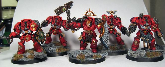 Warhammer Space Marine Blood Angels Terminators