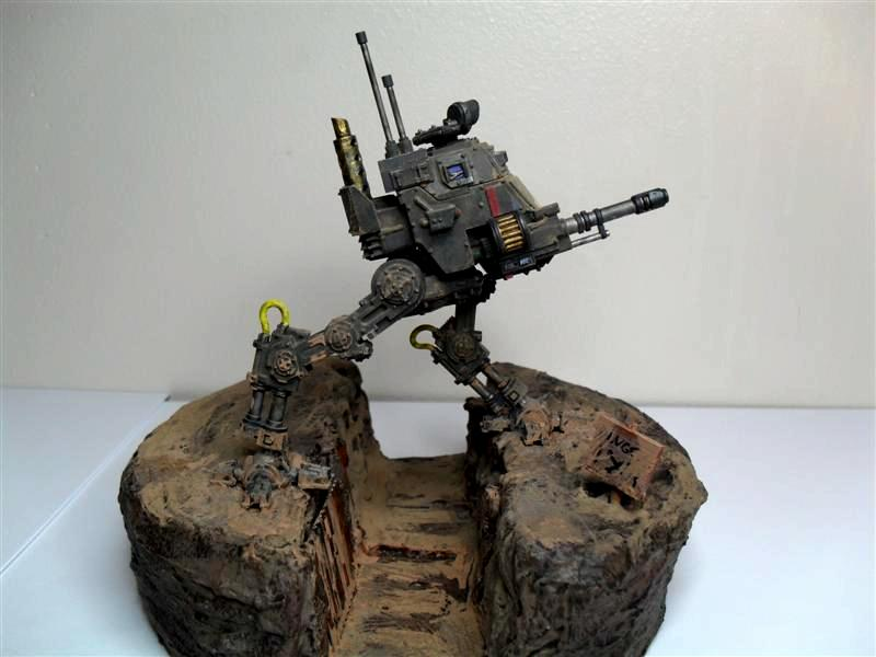 Diorama, Imperial, Imperial Guard, Trench, Warhammer 40,000, World War 2