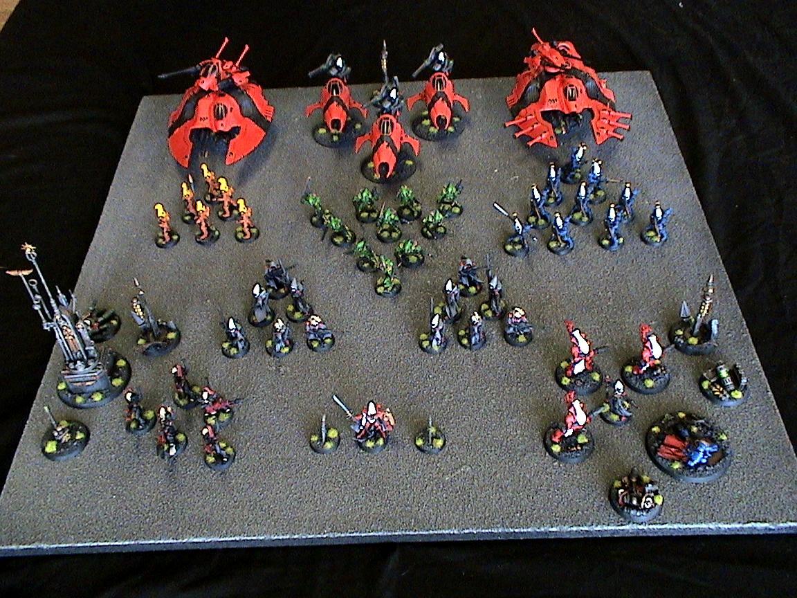Army, Aspect Warrior, Eldar, Falcon, Saim-hann, Vypers, Warhammer 40,000, Wave Serpent