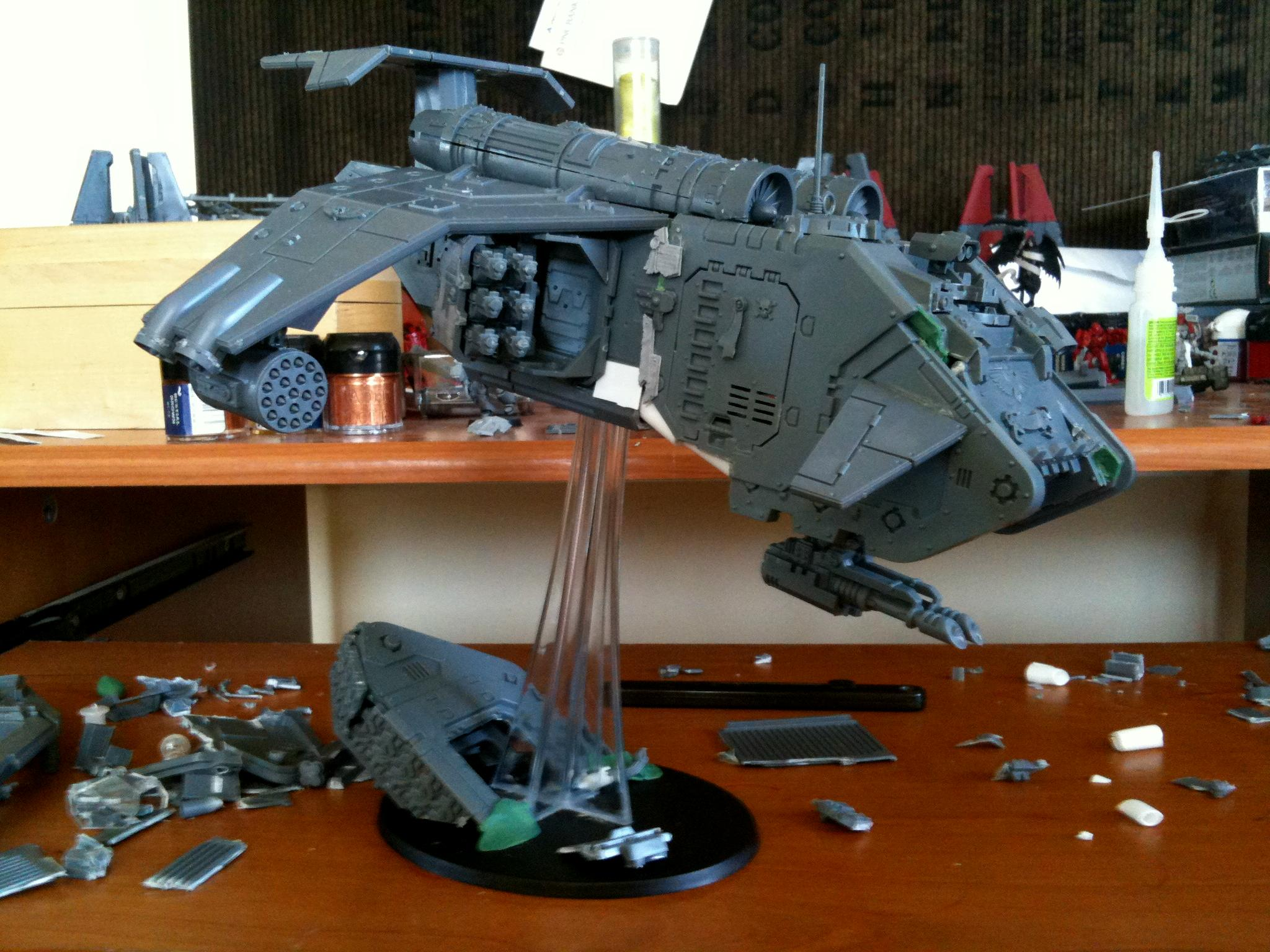 Conversion, Heavy Support, Kit Bash, Space Marines, Stormraven, Work In Progress