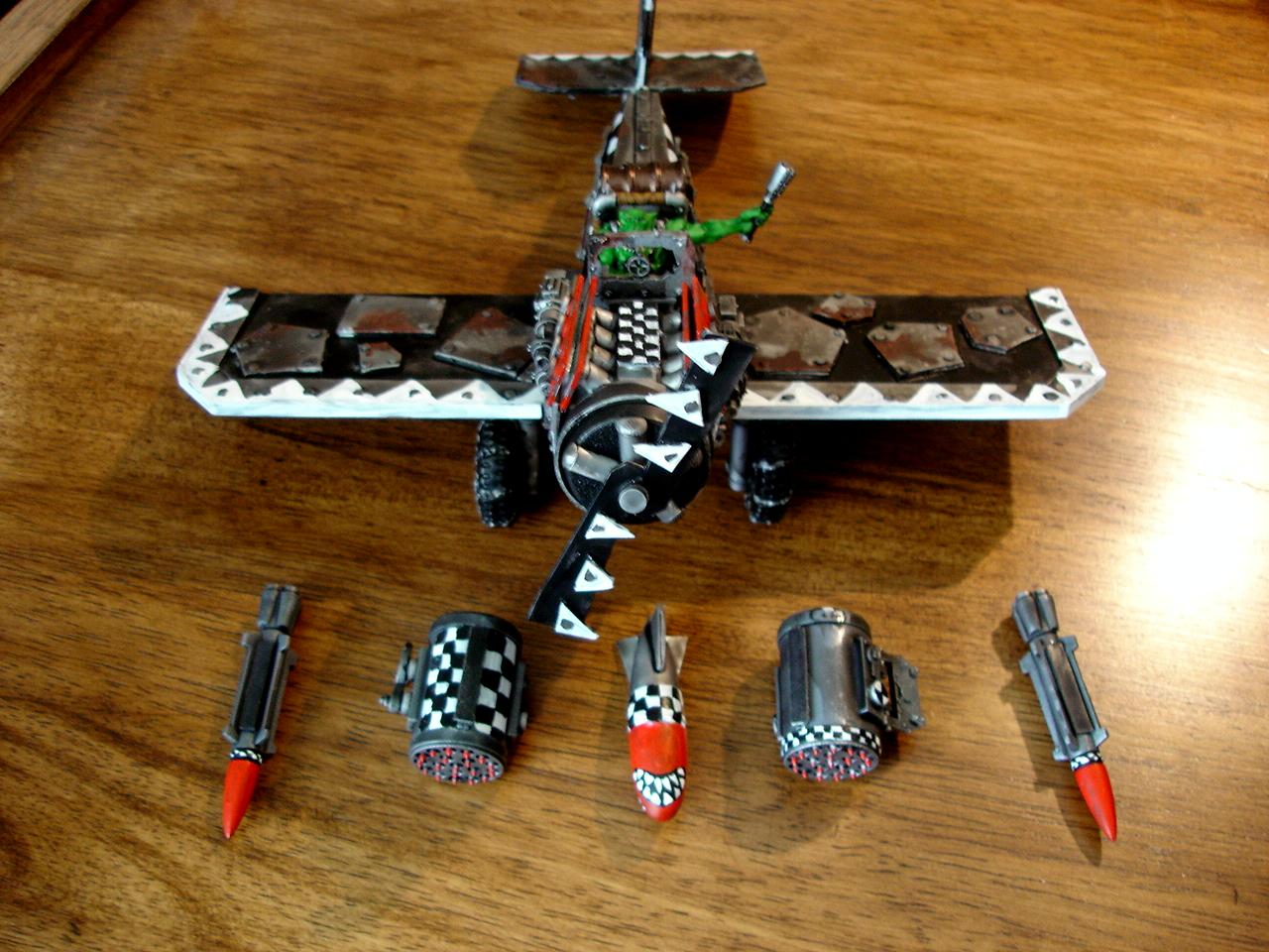 Conversion, Fighta-bomba, Fightabomma, Orks, Plane, Rockets, Warhammer 40,000