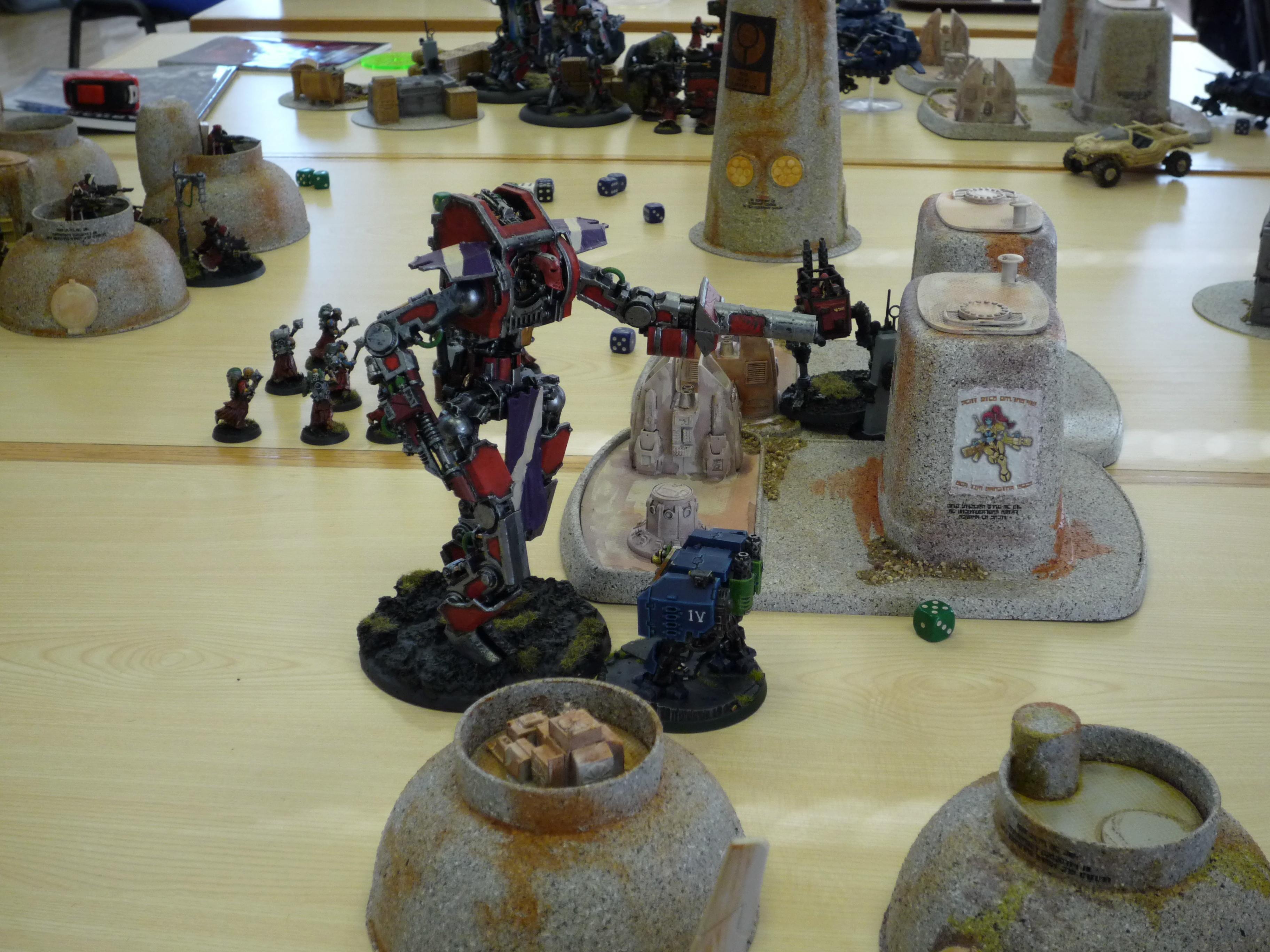 Ad Mech, Imperial Guard, Space Marines, Tau, Terrain, Warhammer 40,000