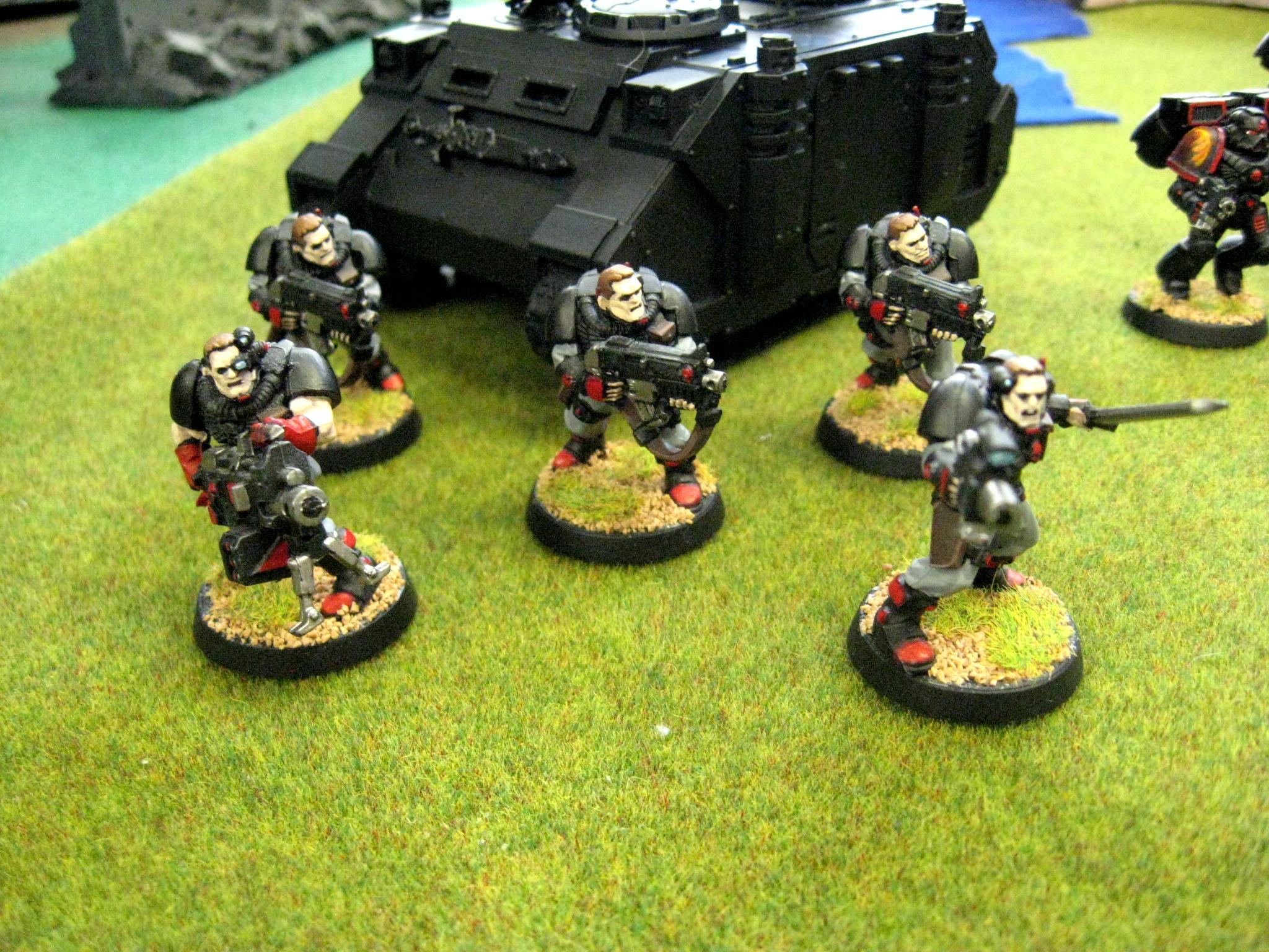 Chapter, Custom, Dreadnought, Land Raider, Predator, Rhino, Salamanders, Scouts, Space Marines, Squad, Tactical, Terminator Armor, Vanilla, Vulkan