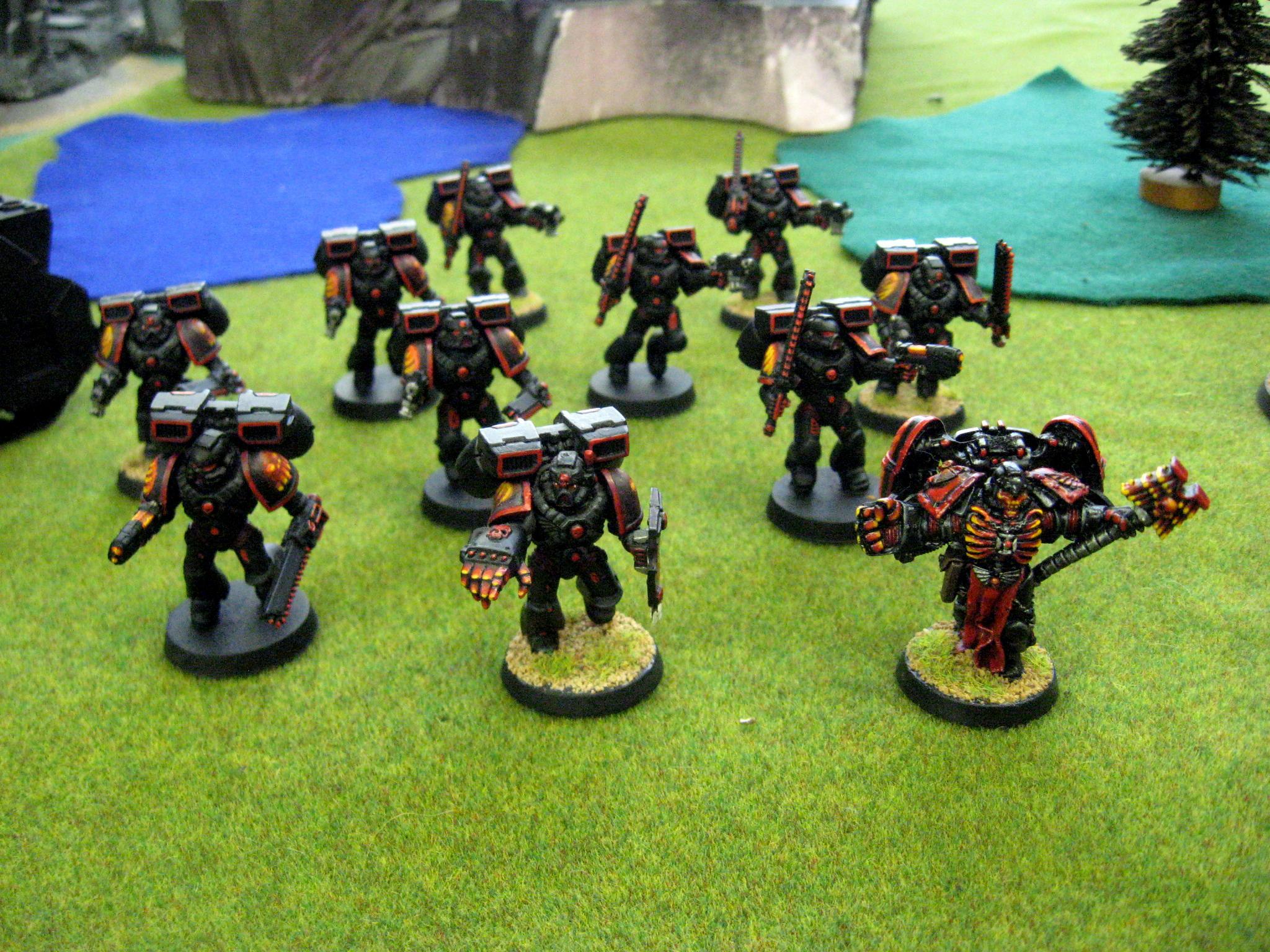 Assault Squad, Chapter, Custom, Dreadnought, Land Raider, Predator, Rhino, Salamanders, Space Marines, Tactical, Terminator Armor, Vanilla, Vulkan