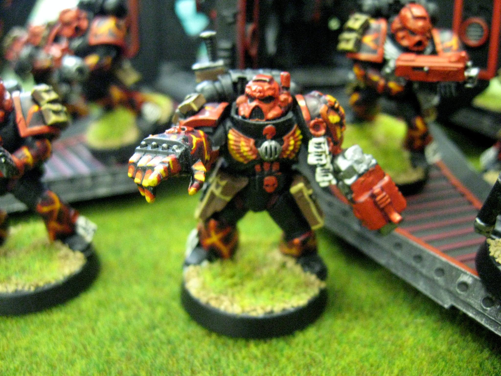 Chapter, Custom, Dreadnought, Land Raider, Predator, Rhino, Salamanders, Seargent, Space Marines, Sternguard, Tactical, Terminator Armor, Vanilla, Vulkan