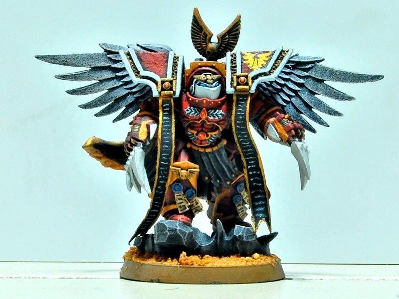Blood Angels, Captain, Conversion, Headquarters, Space Marines, Terminator Armor, Warhammer 40,000