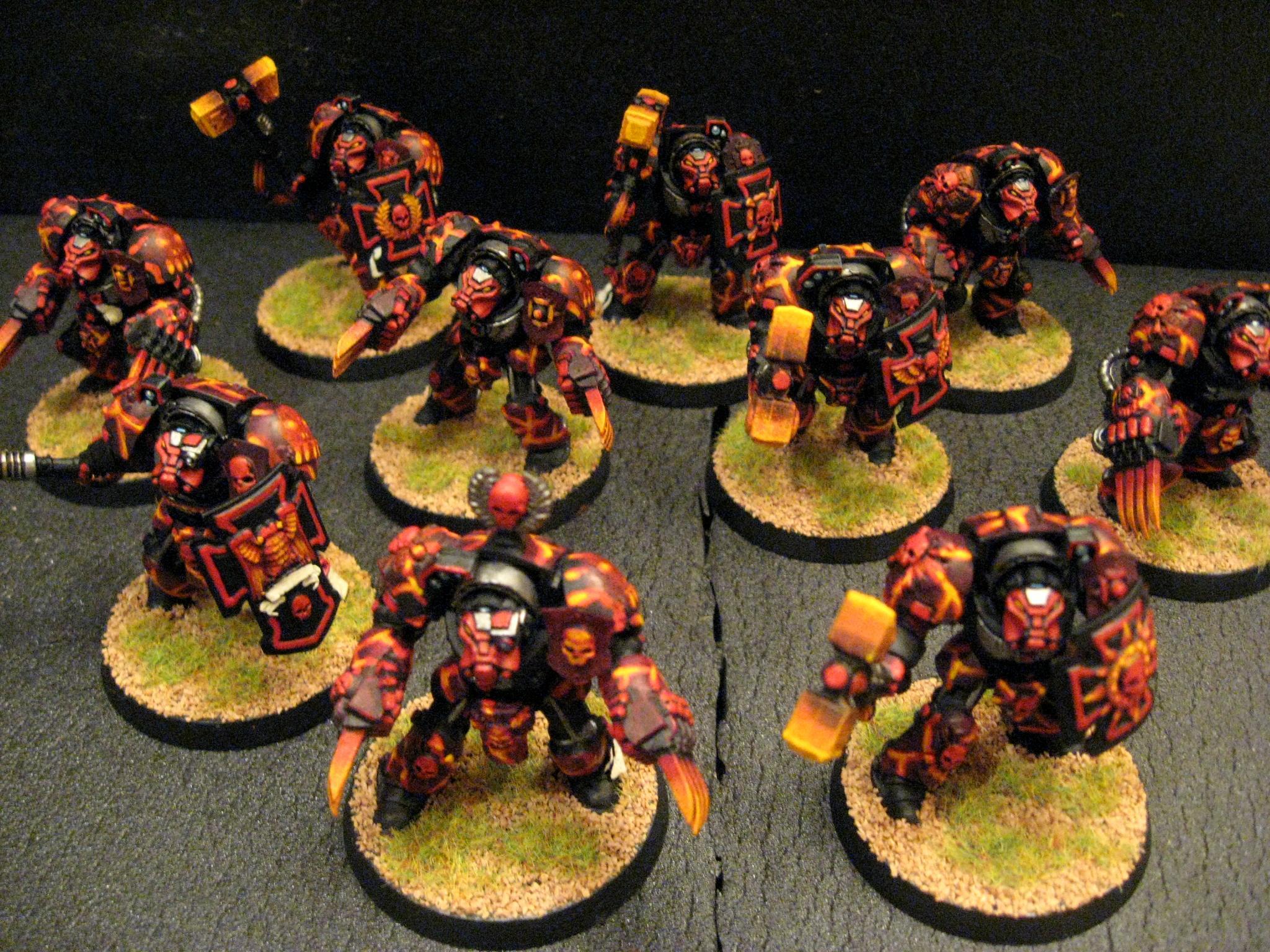 Chapter, Custom, Salamanders, Space Marines, Tactical, Terminator Armor, Terminator Assault Squad, Vanilla, Vulkan