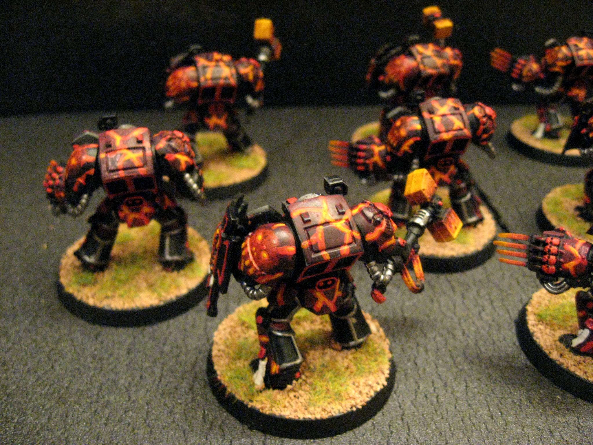 Chapter, Custom, Land Raider, Predator, Rhino, Salamanders, Space Marines, Tactical, Terminator Armor, Terminator Assault Squad, Vanilla, Vulkan