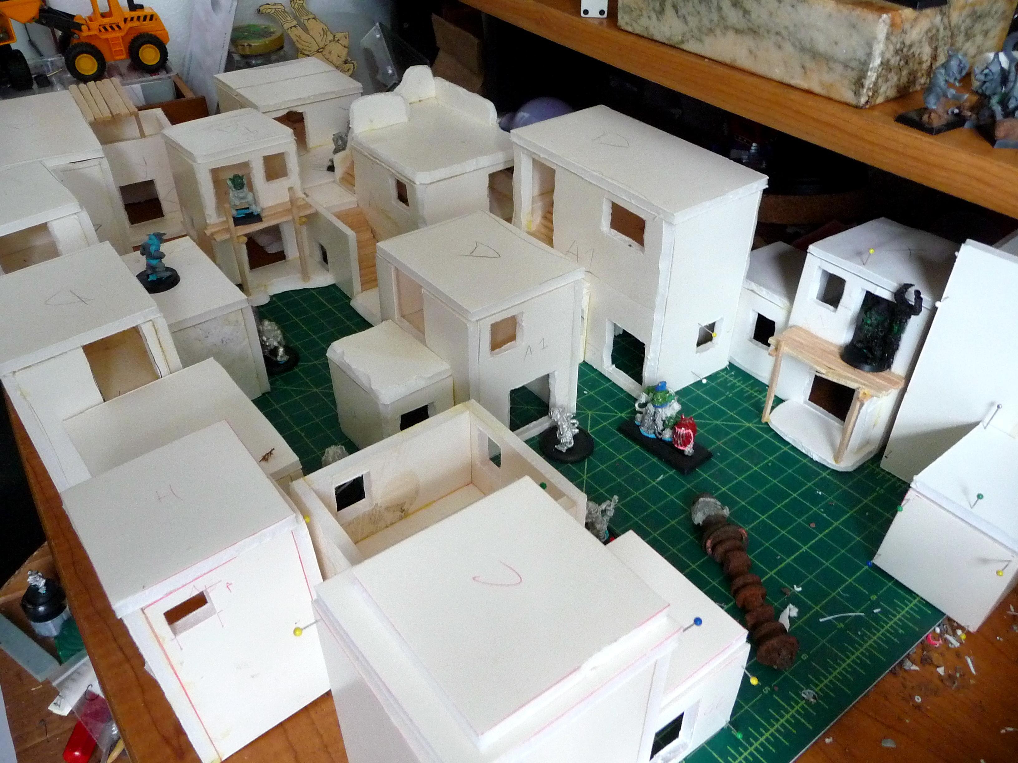 Buildings, City, Foamcore, Orks, Terrain, Town