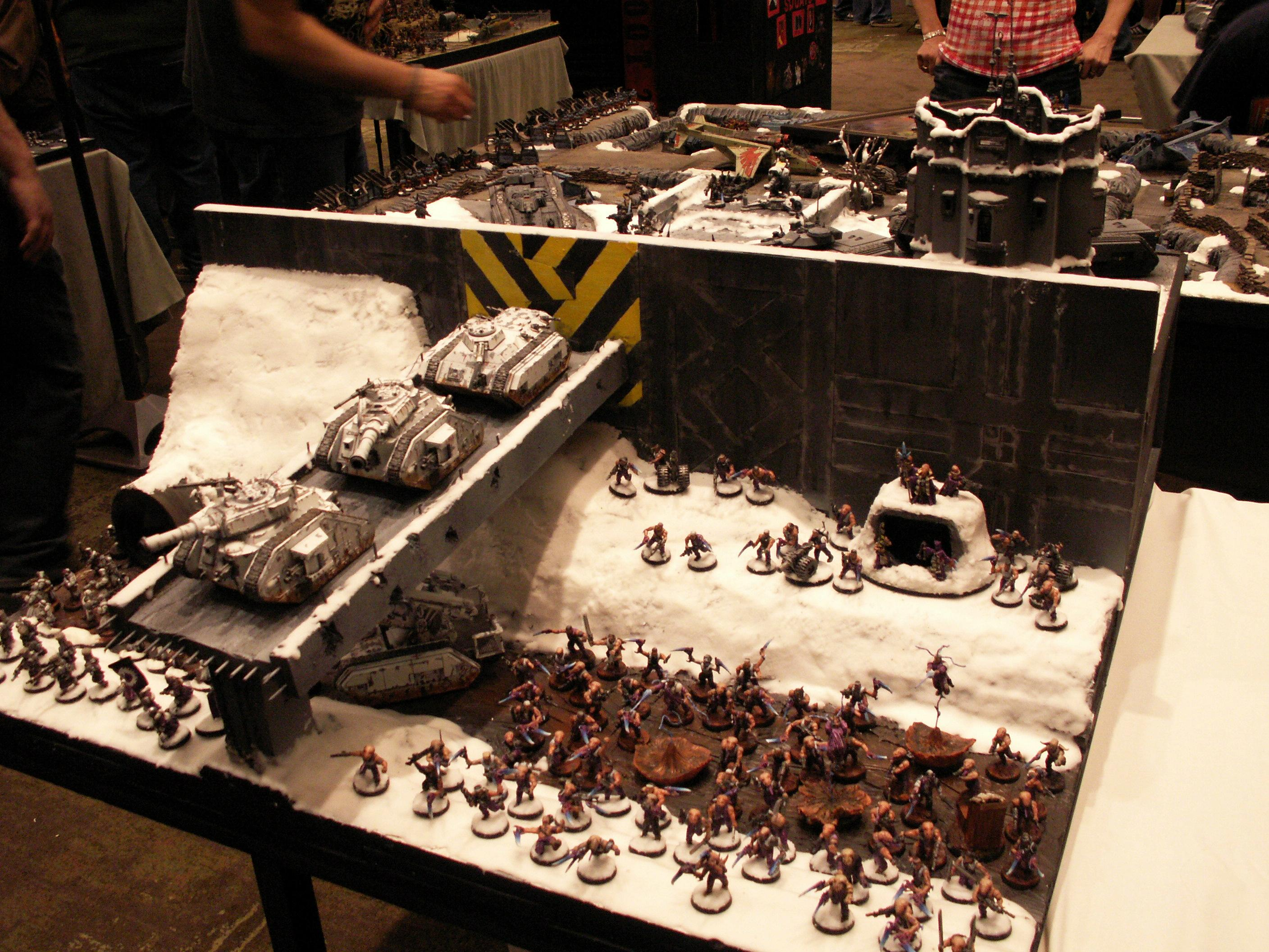 Adepticon, Adepticon 2010, Awesome, Battle, Bridge, Imperial Guard, Leman Russ, Painted, Terrain, Volyan Liberation Front, Wall, Warhammer 40,000